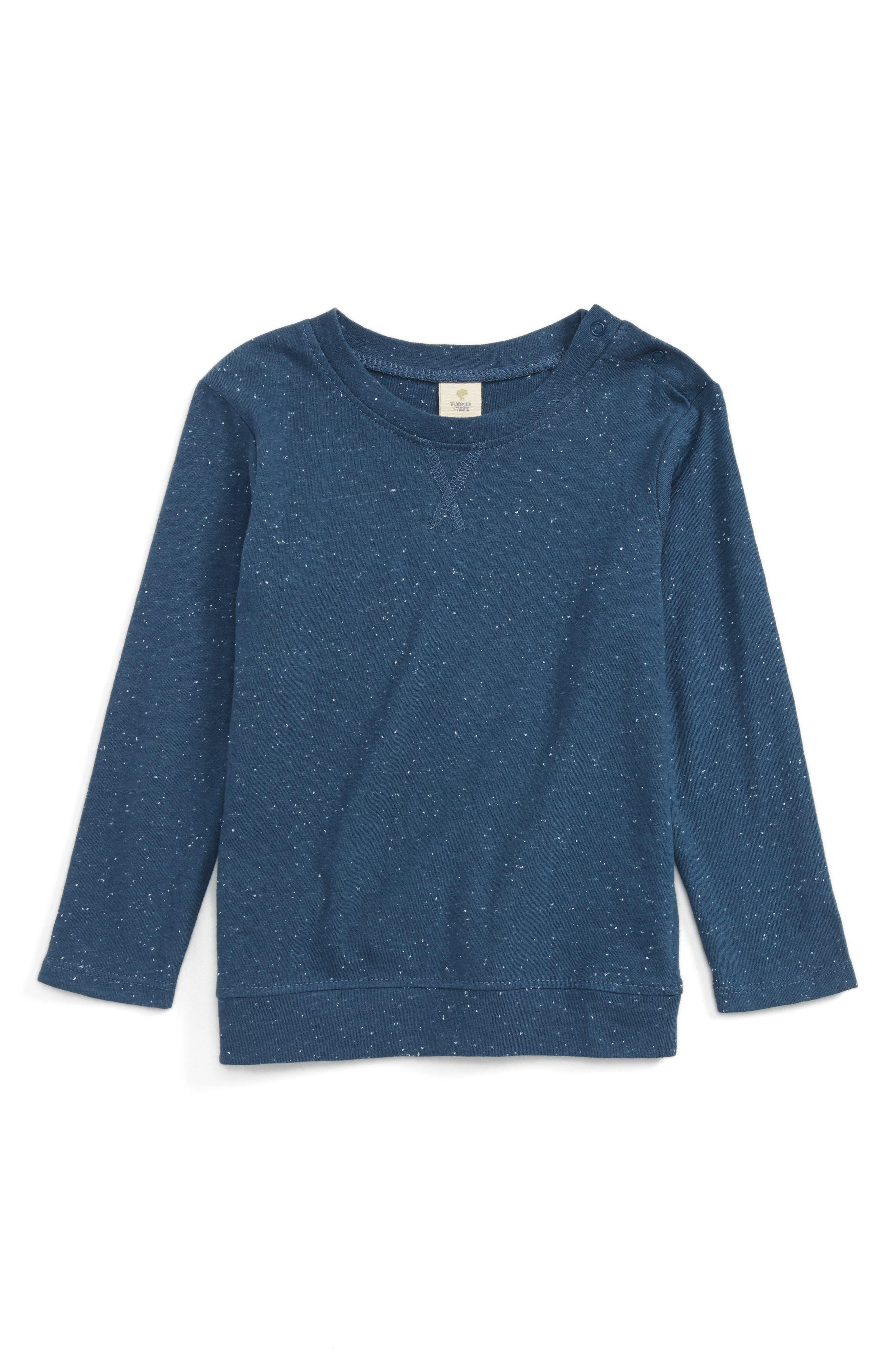 Essential Long Sleeve T-Shirt,                         Main,                         color, Navy Denim