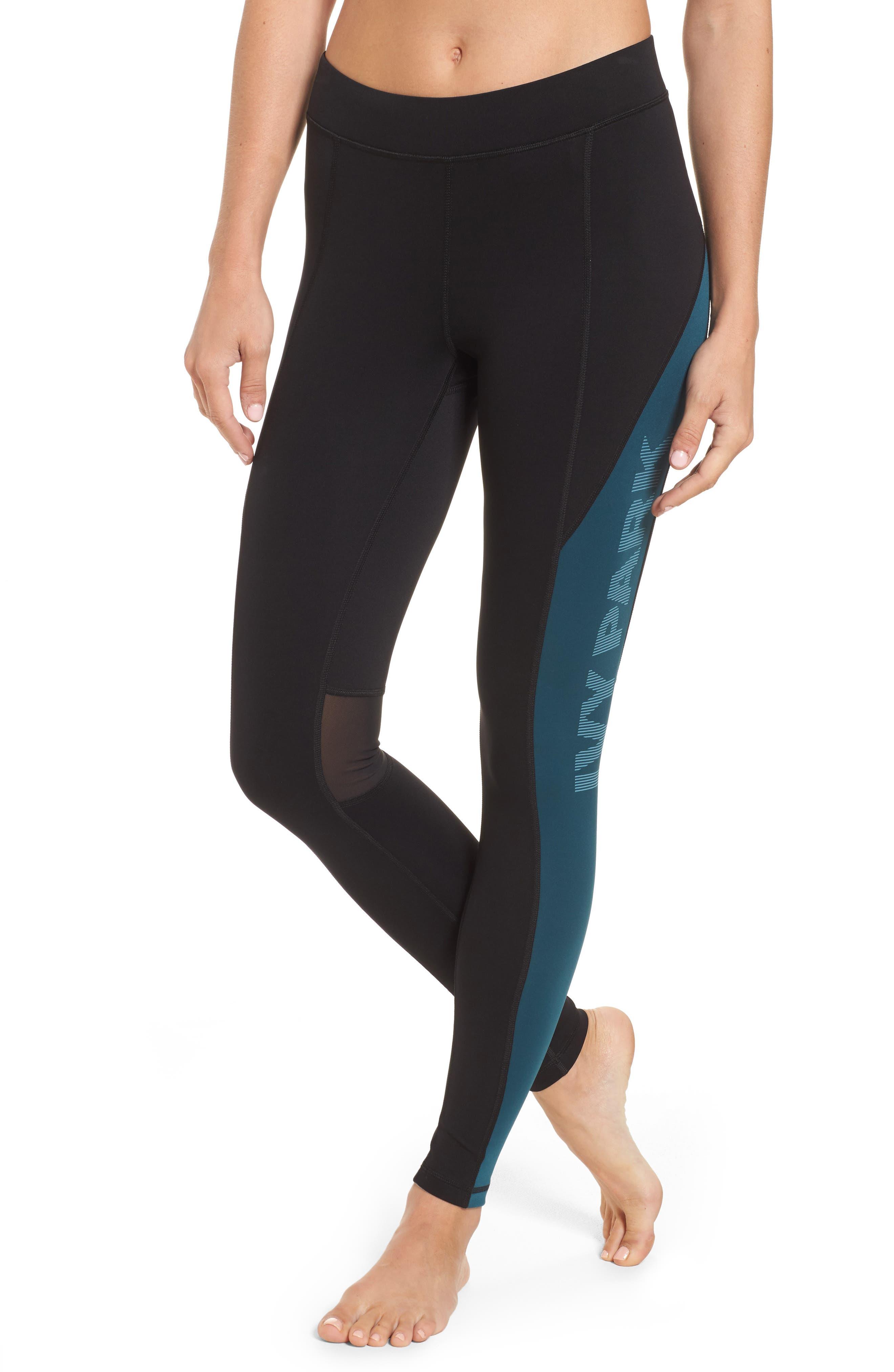 Alternate Image 1 Selected - IVY PARK® Logo Block Mid Rise Ankle Leggings