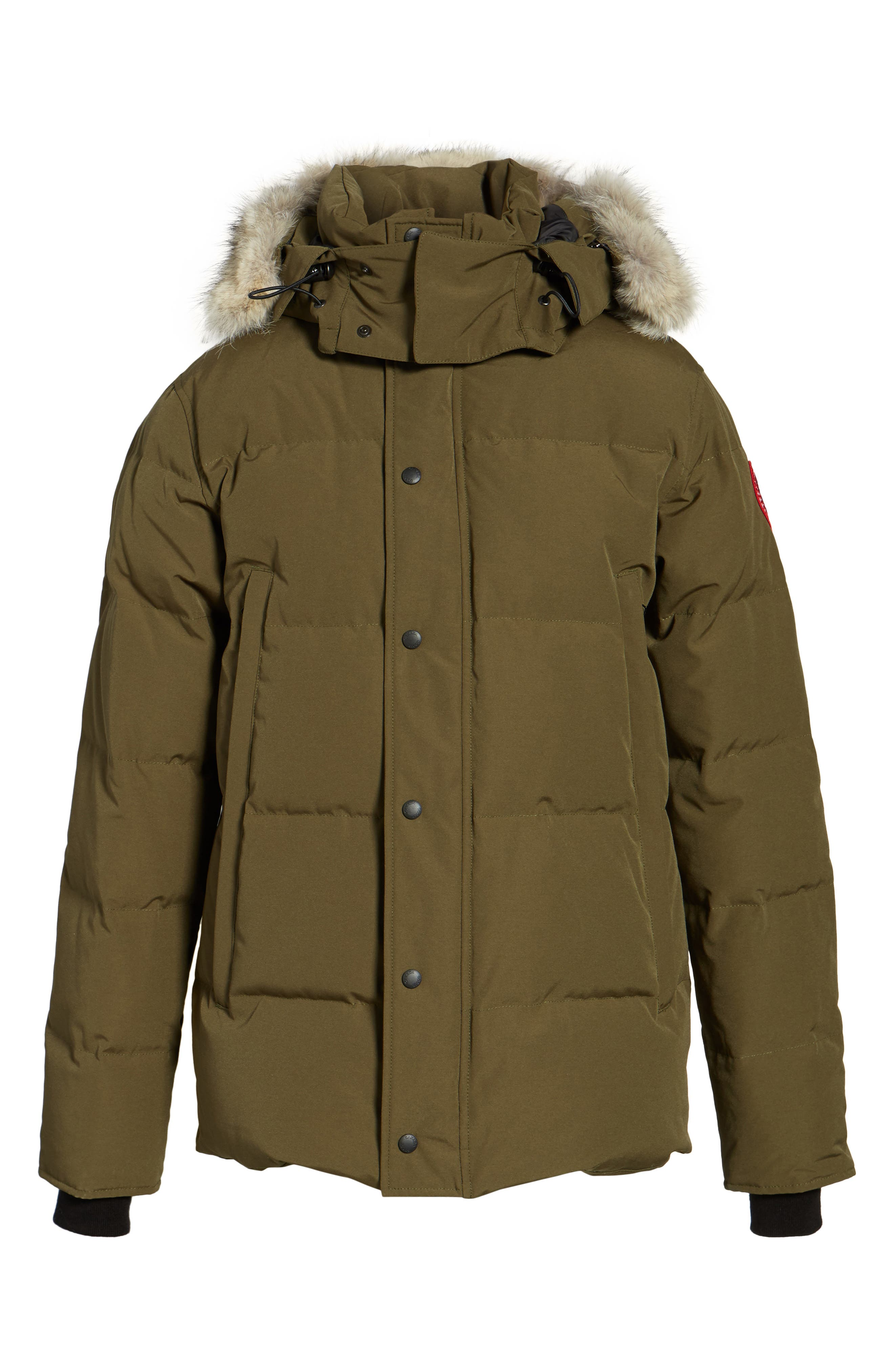 Alternate Image 8  - Canada Goose Wyndham Slim Fit Genuine Coyote Fur Trim Down Jacket