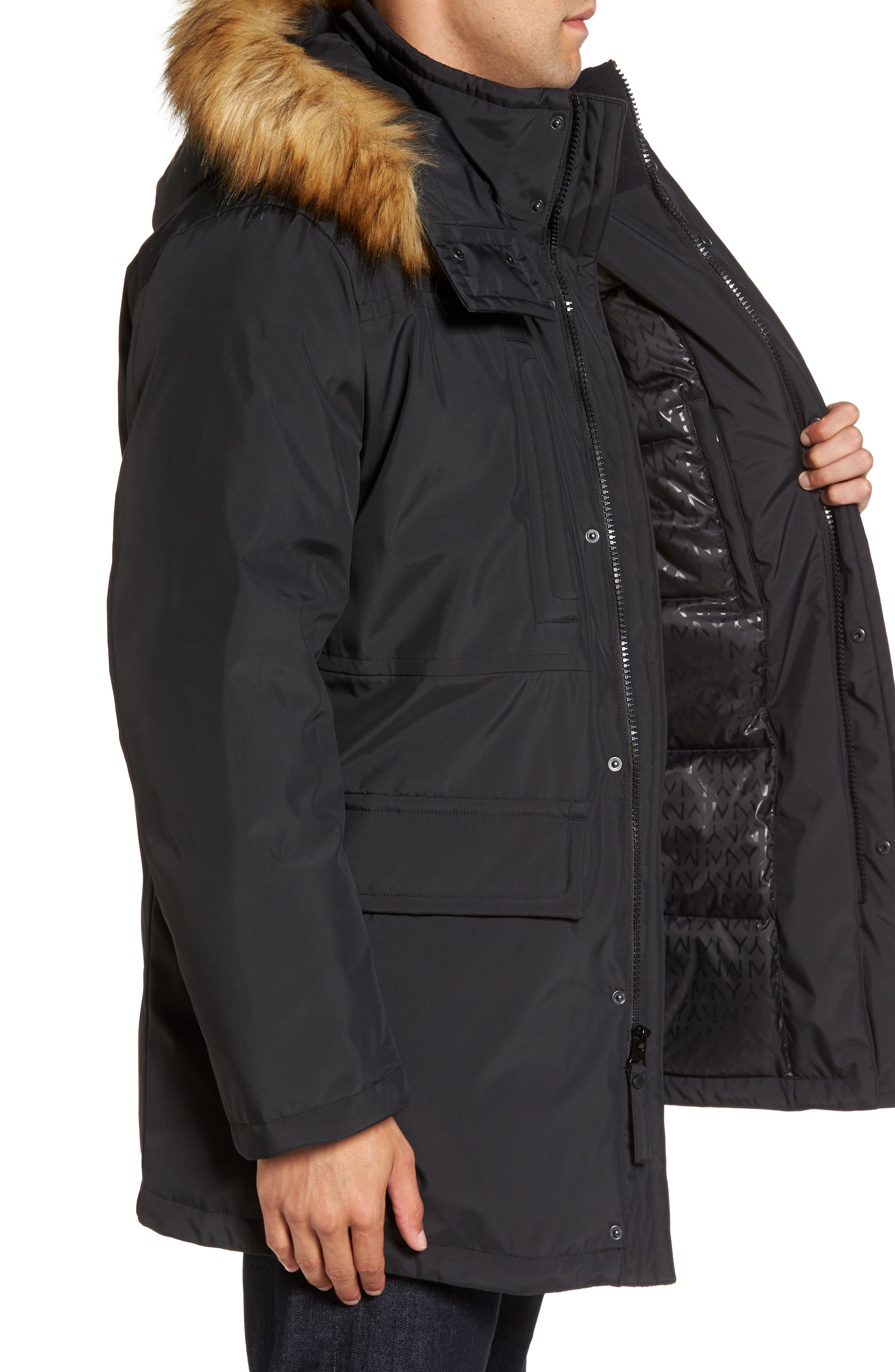Alternate Image 3  - Marc New York Down Jacket with Faux Fur Trim