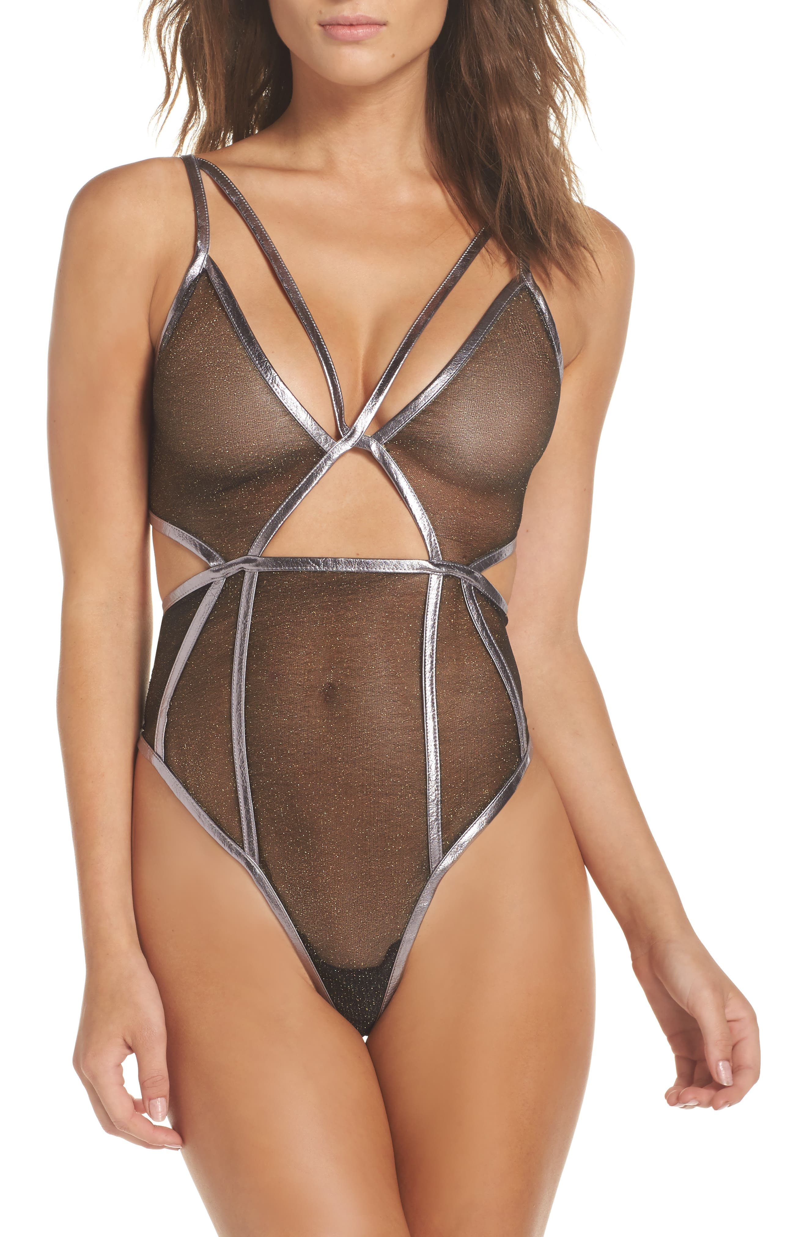FOR LOVE & LEMONS Vega Sheer Bodysuit
