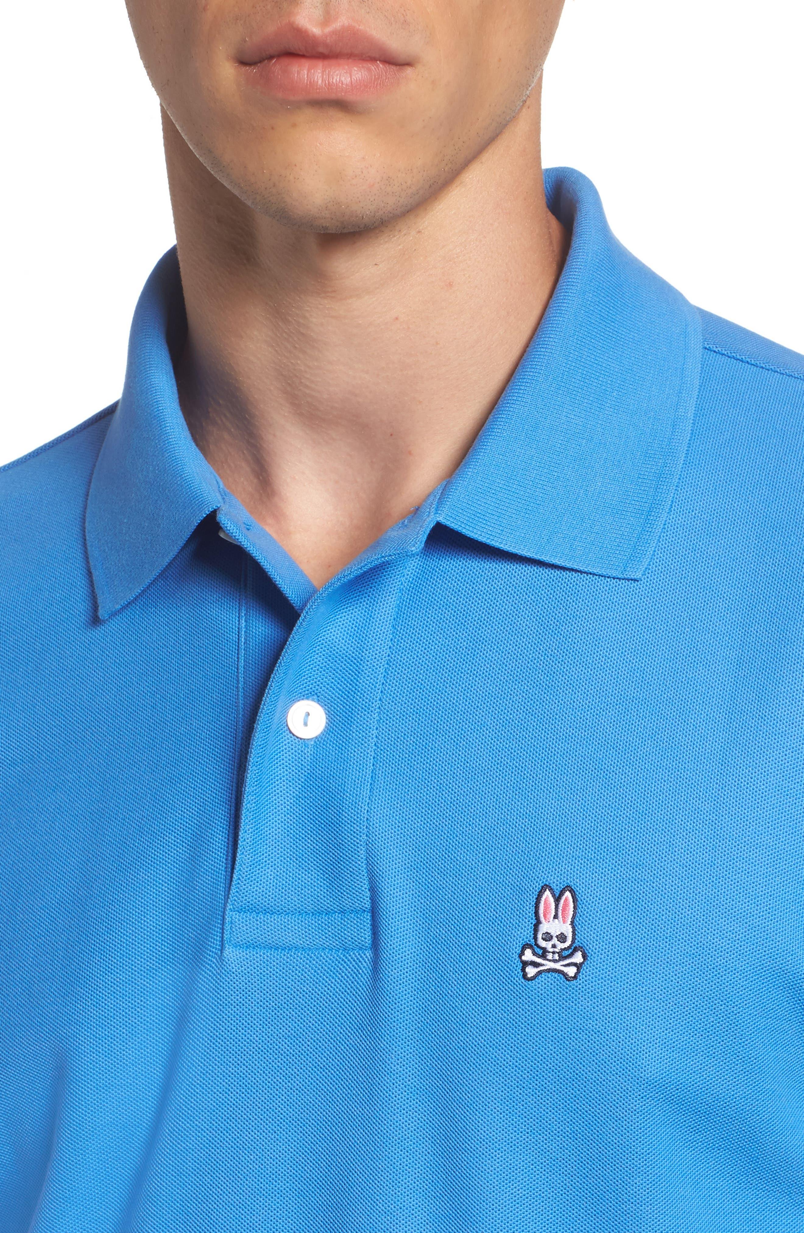 Classic Logo Appliqué Polo,                             Alternate thumbnail 4, color,                             Sapphire
