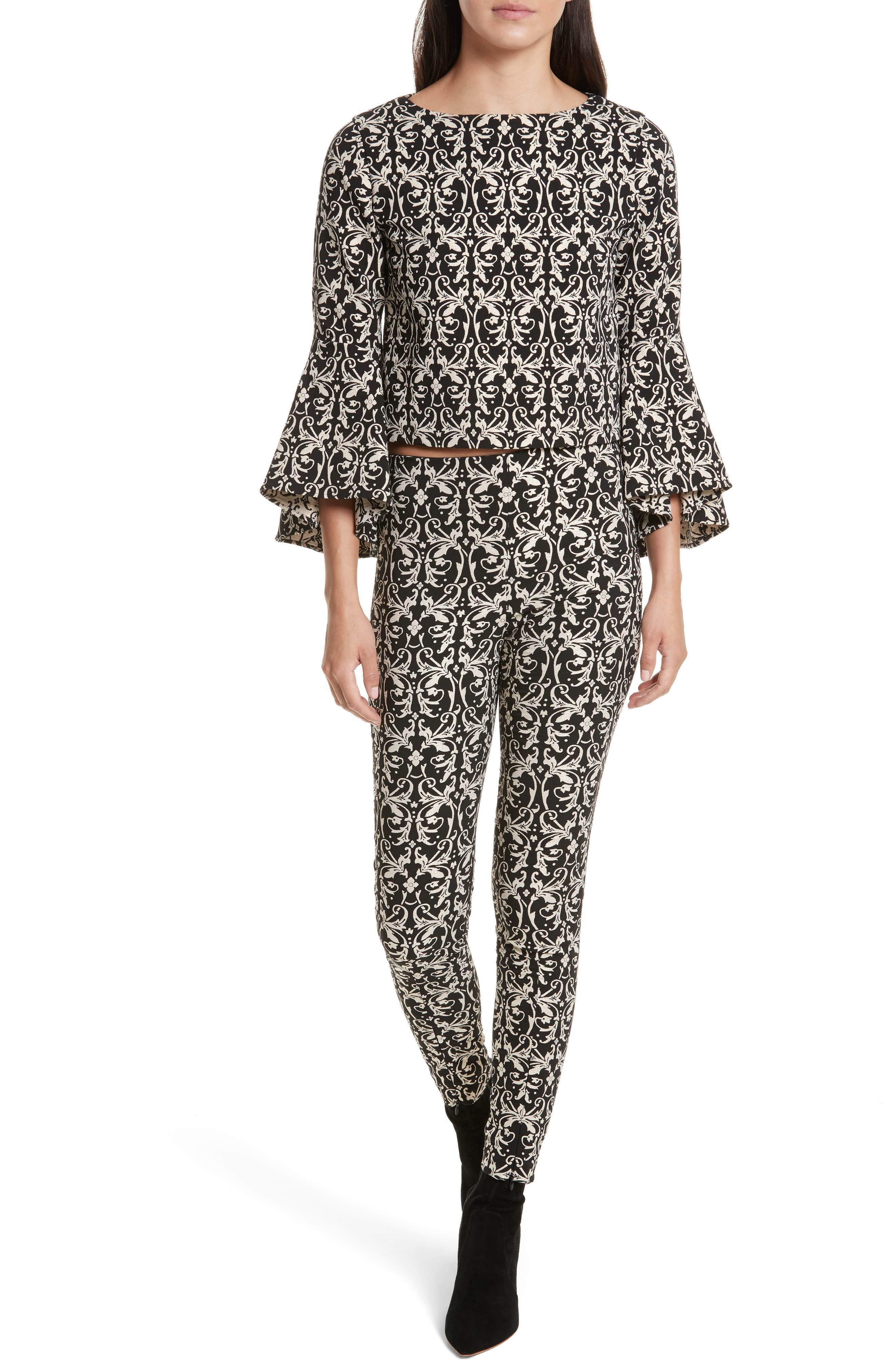 Alternate Image 6  - Alice + Olivia Royce Side Zip Legging
