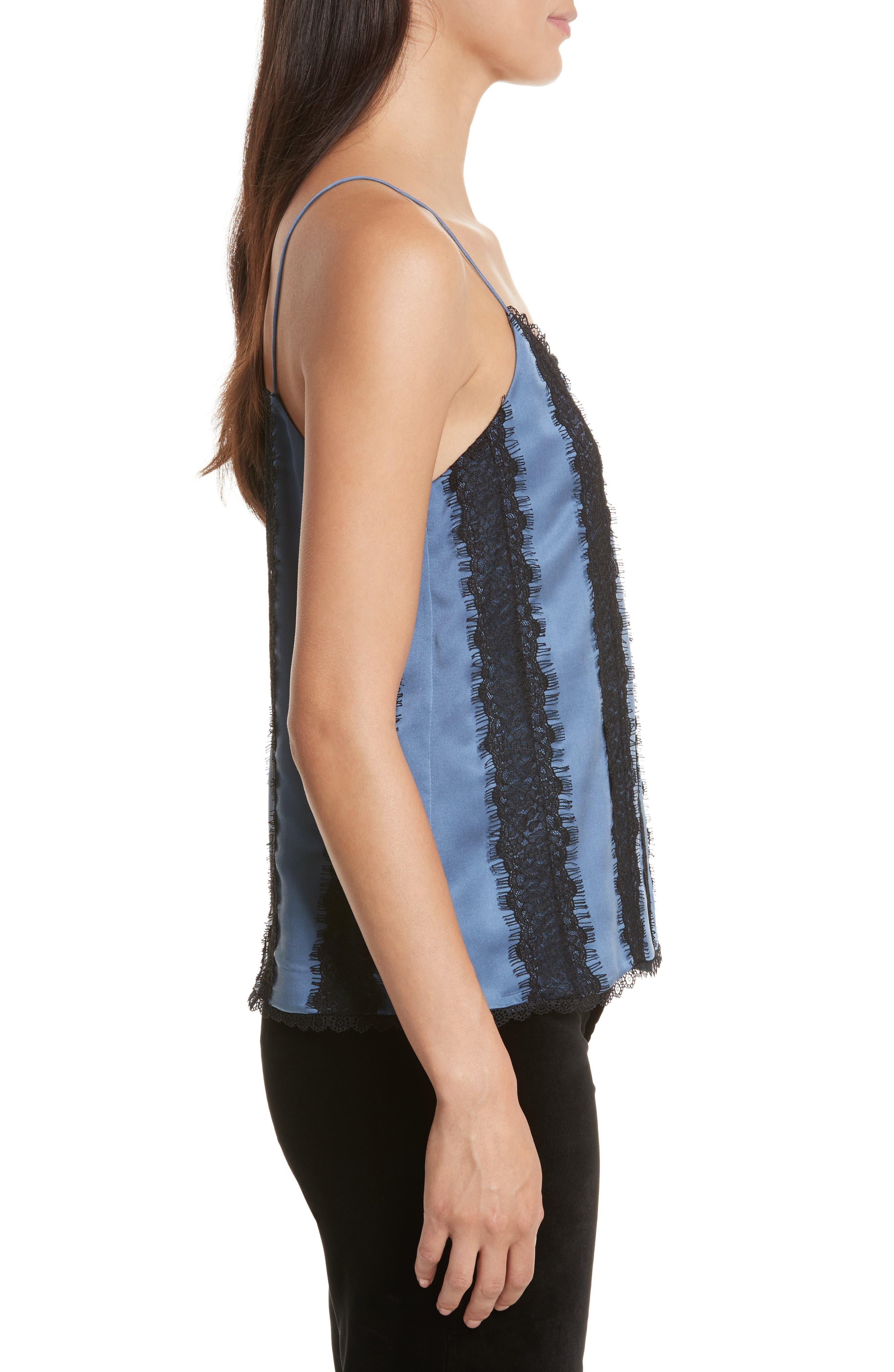 Alternate Image 3  - Alice + Olivia Moran Spaghetti Strap Silk Camisole