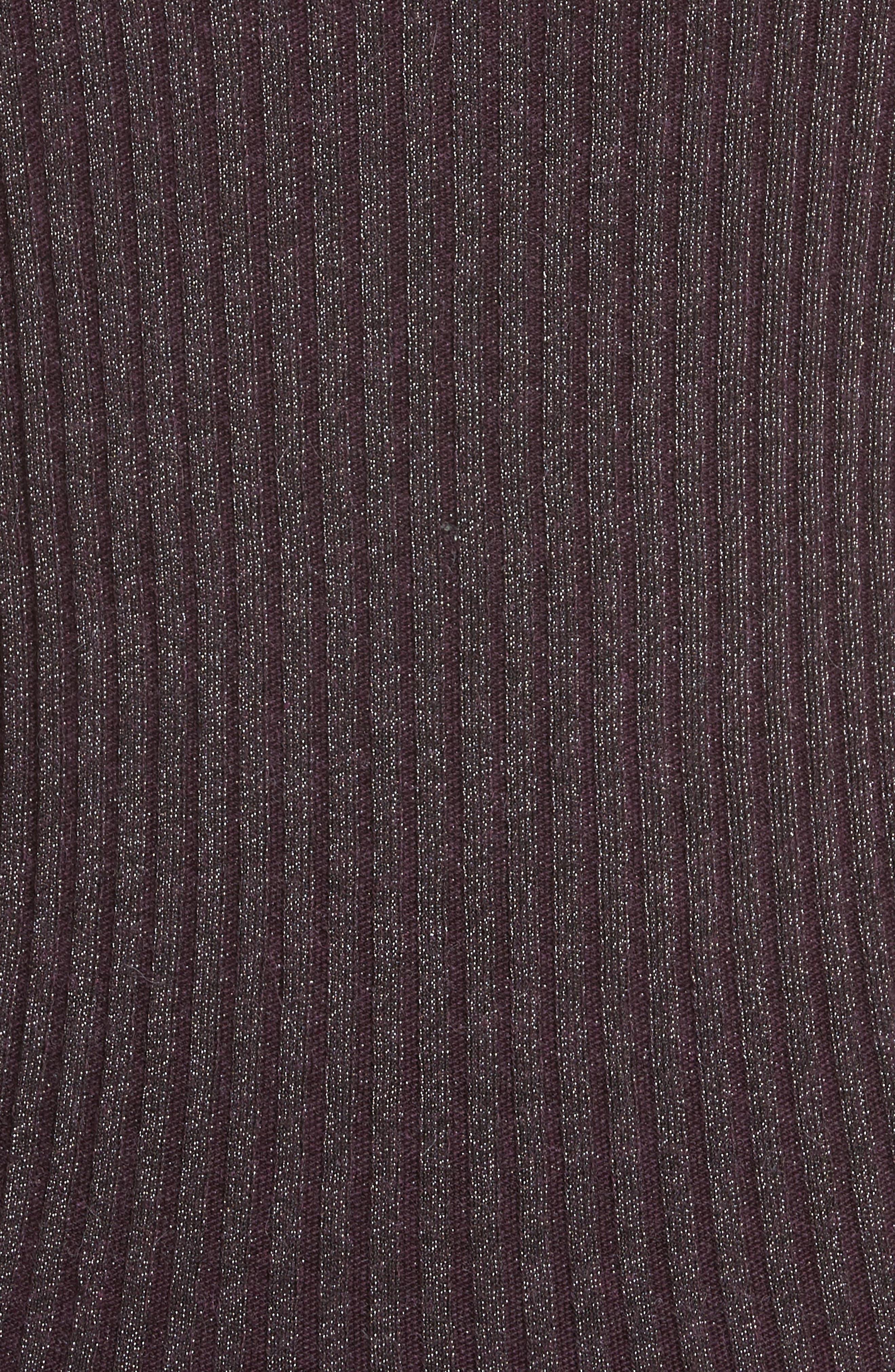 Alternate Image 5  - Rebecca Taylor Metallic Rib Sweater