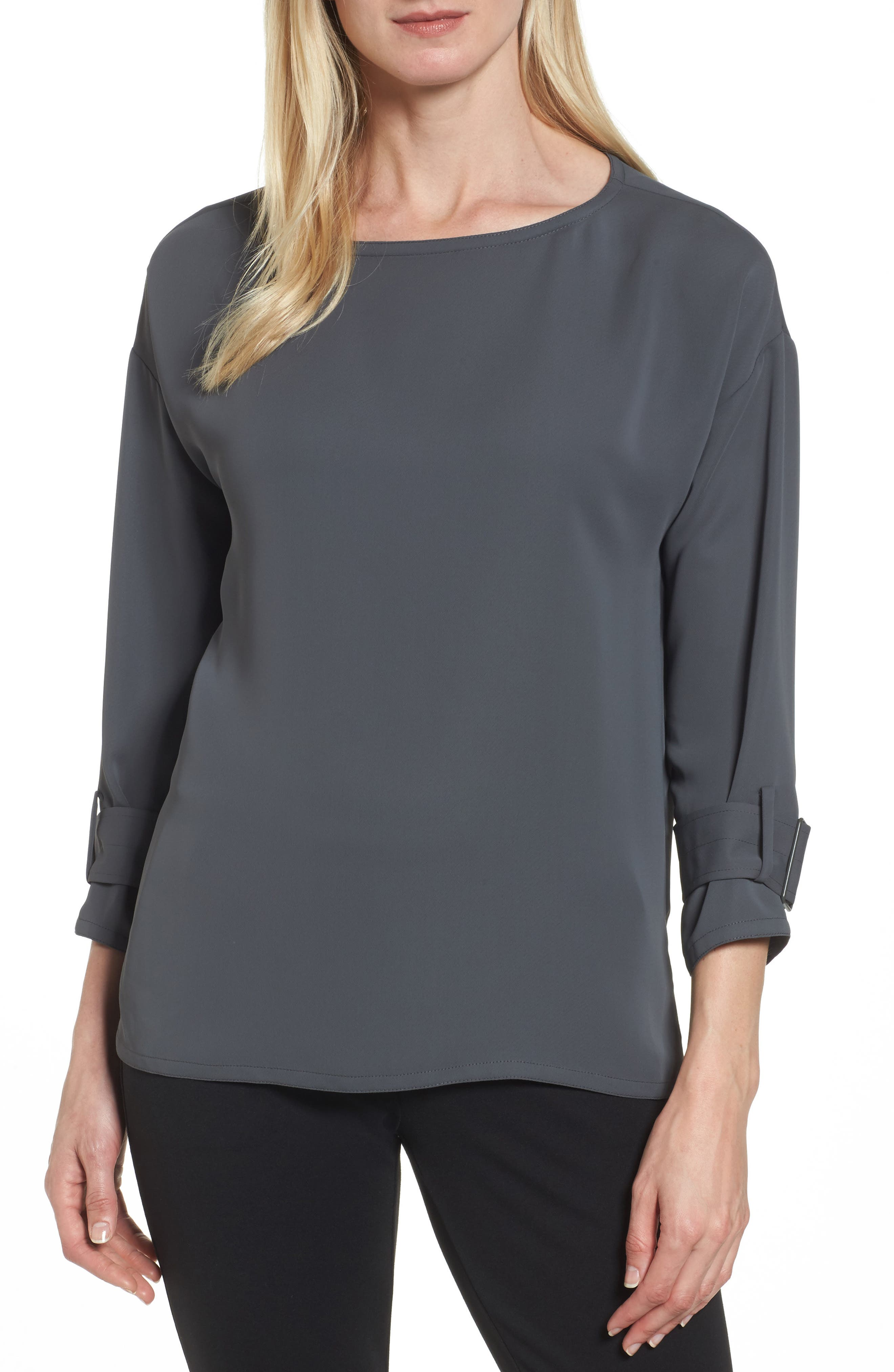 Buckle Sleeve Top,                         Main,                         color, Terrene