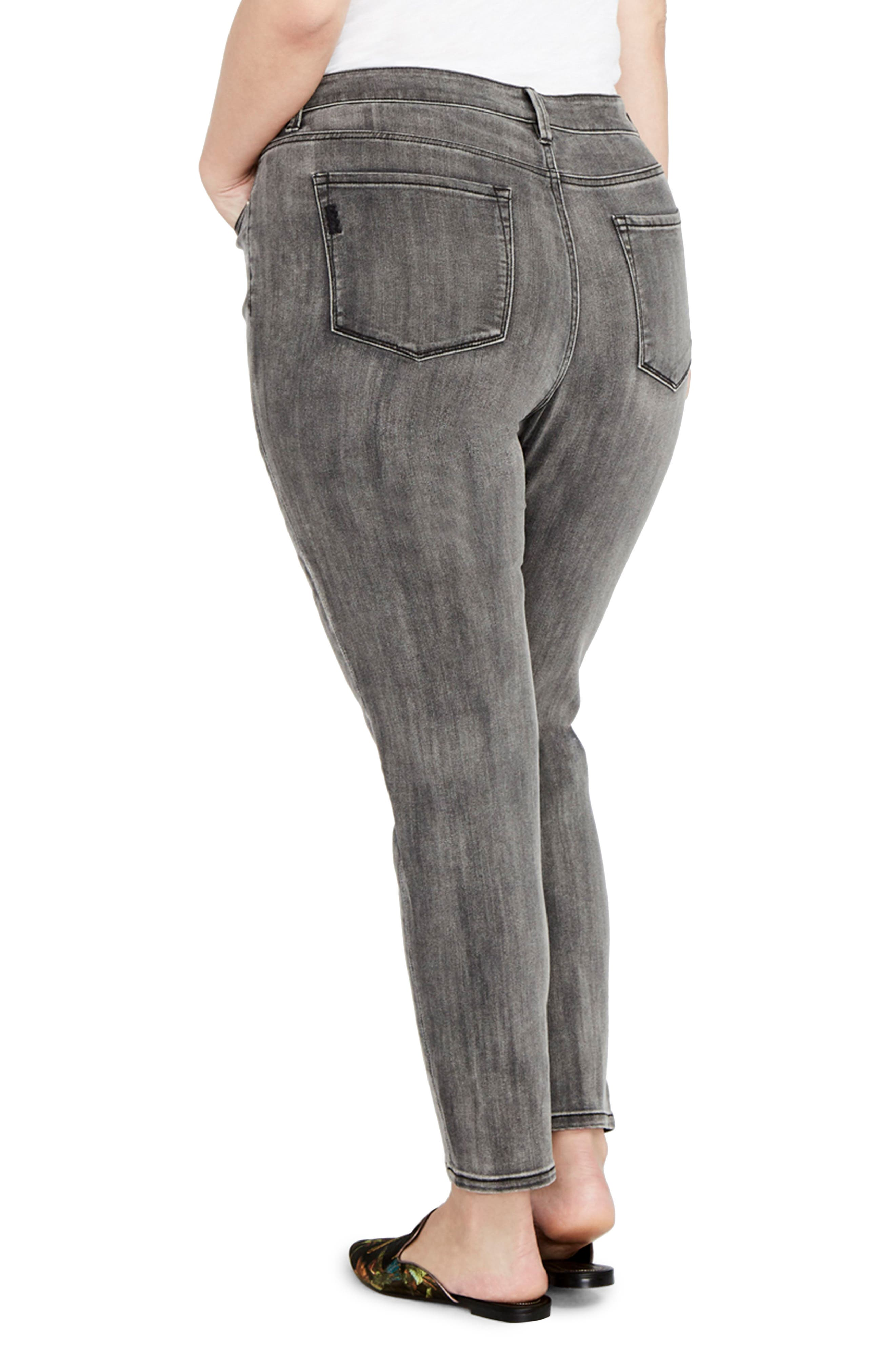 Curvy Icon Skinny Jeans,                             Alternate thumbnail 2, color,                             Gray