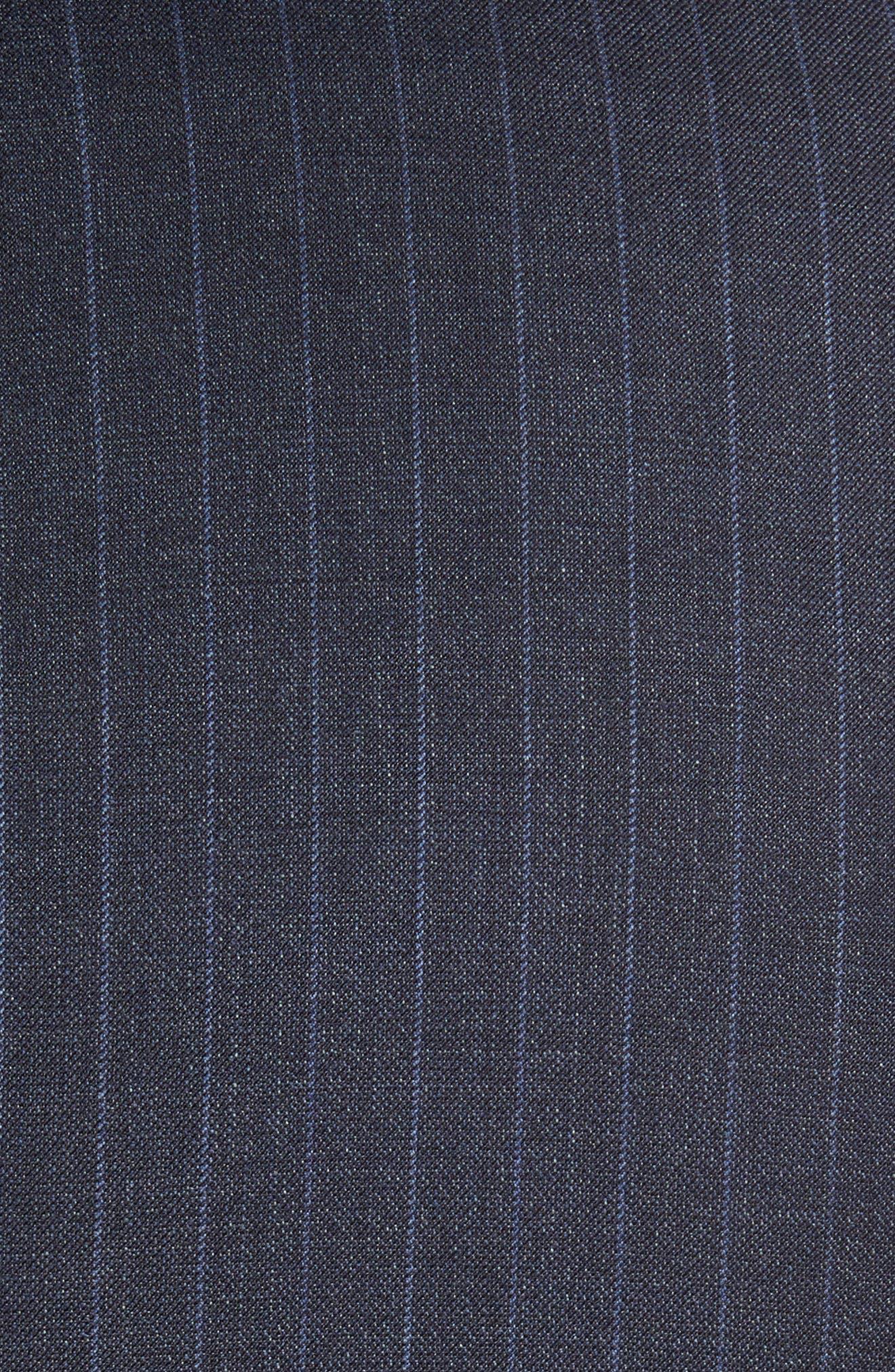 Alternate Image 7  - BOSS Huge/Genius Trim Fit Stripe Wool Suit
