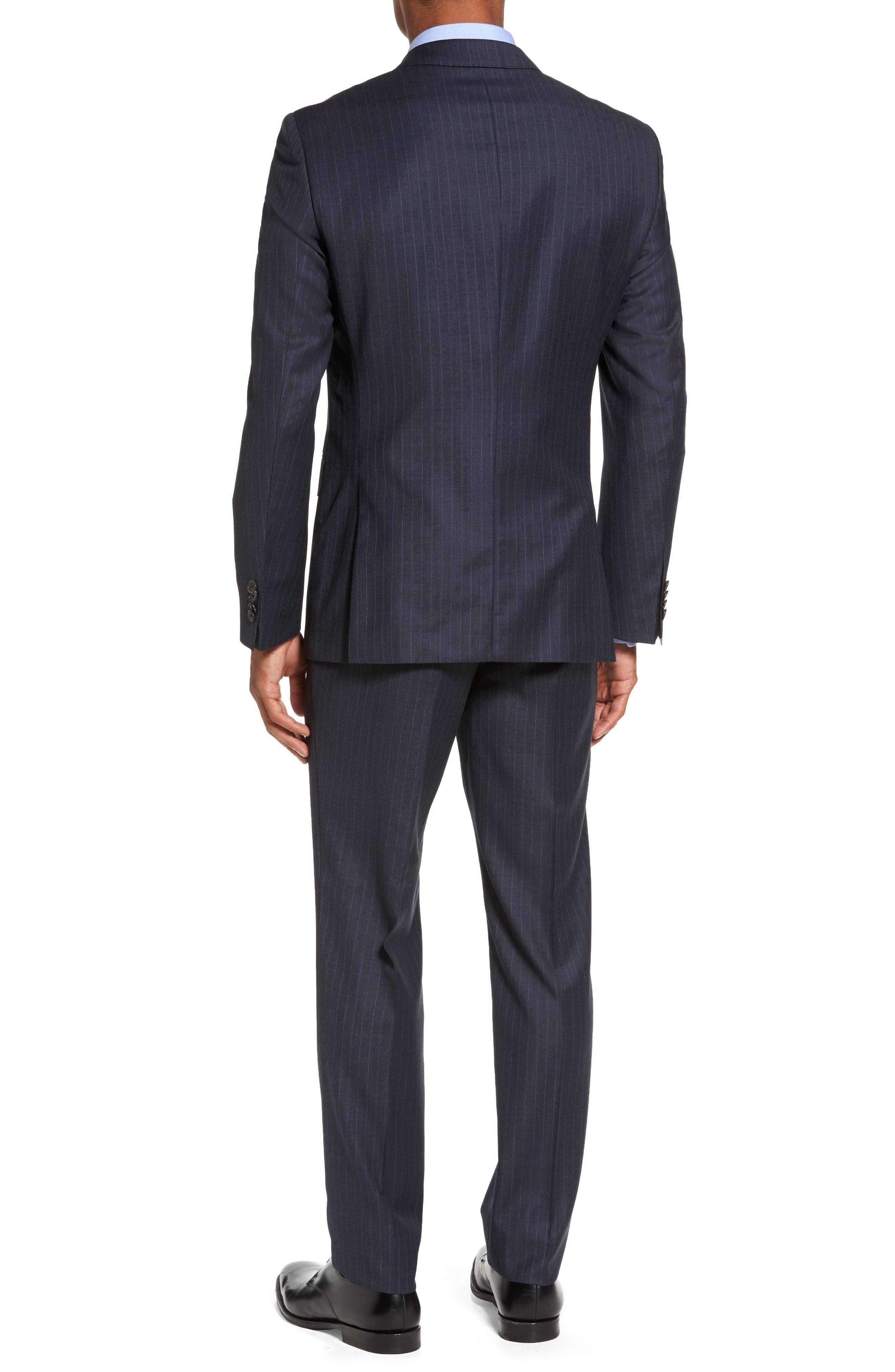 Alternate Image 2  - BOSS Huge/Genius Trim Fit Stripe Wool Suit