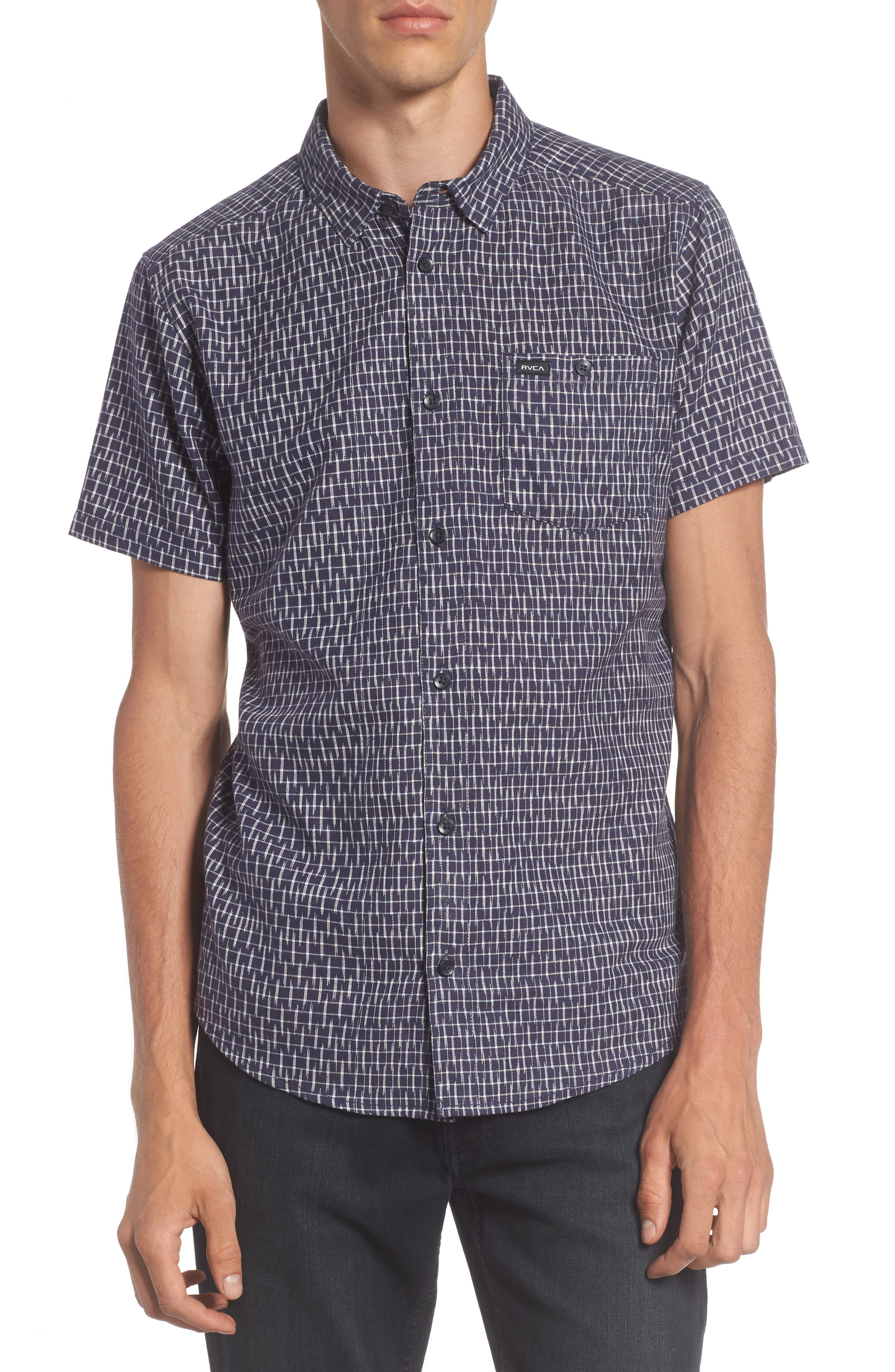 Alternate Image 1 Selected - RVCA Fontana Print Woven Shirt