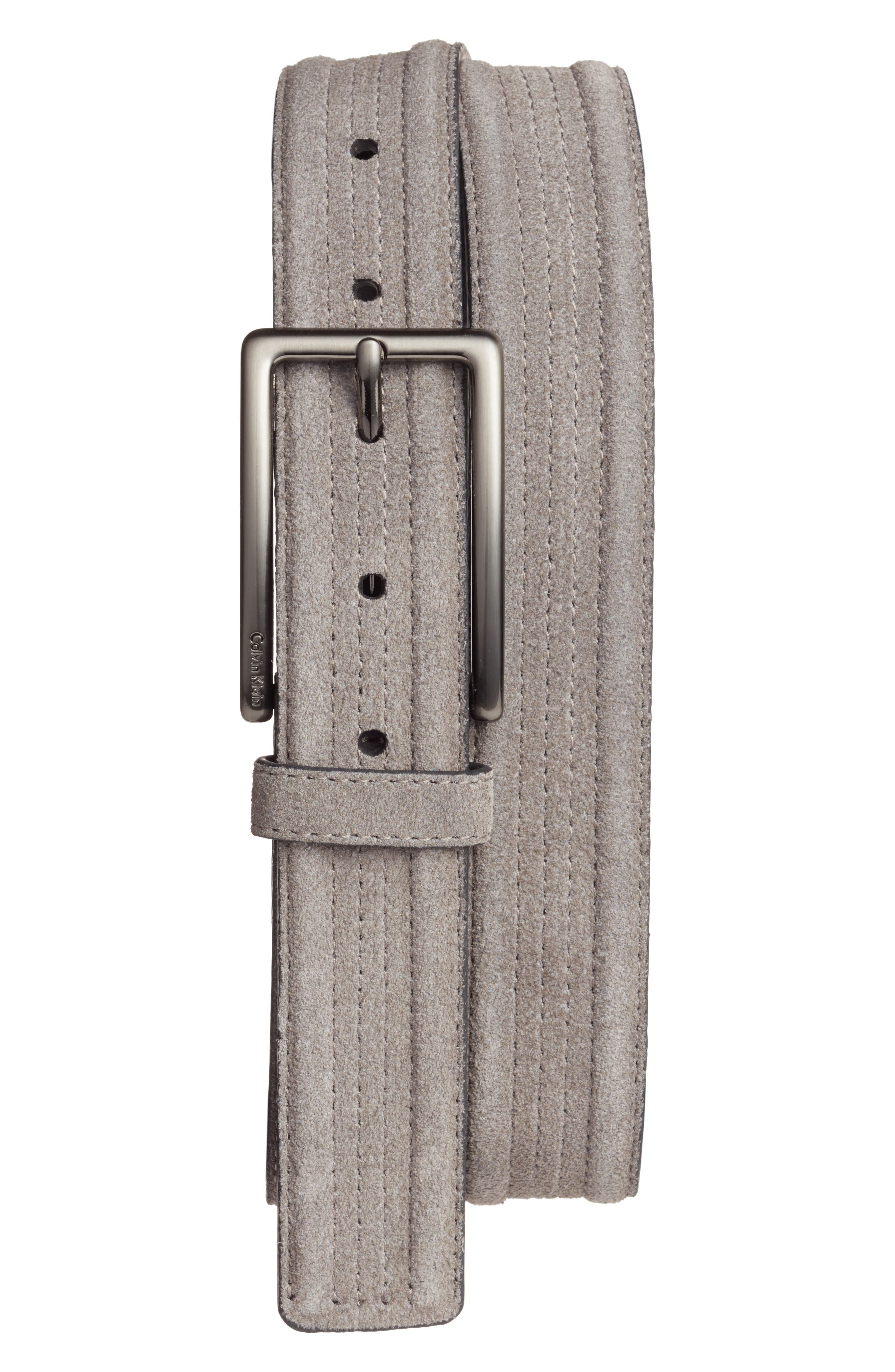 Alternate Image 1 Selected - Calvin Klein Suede Belt