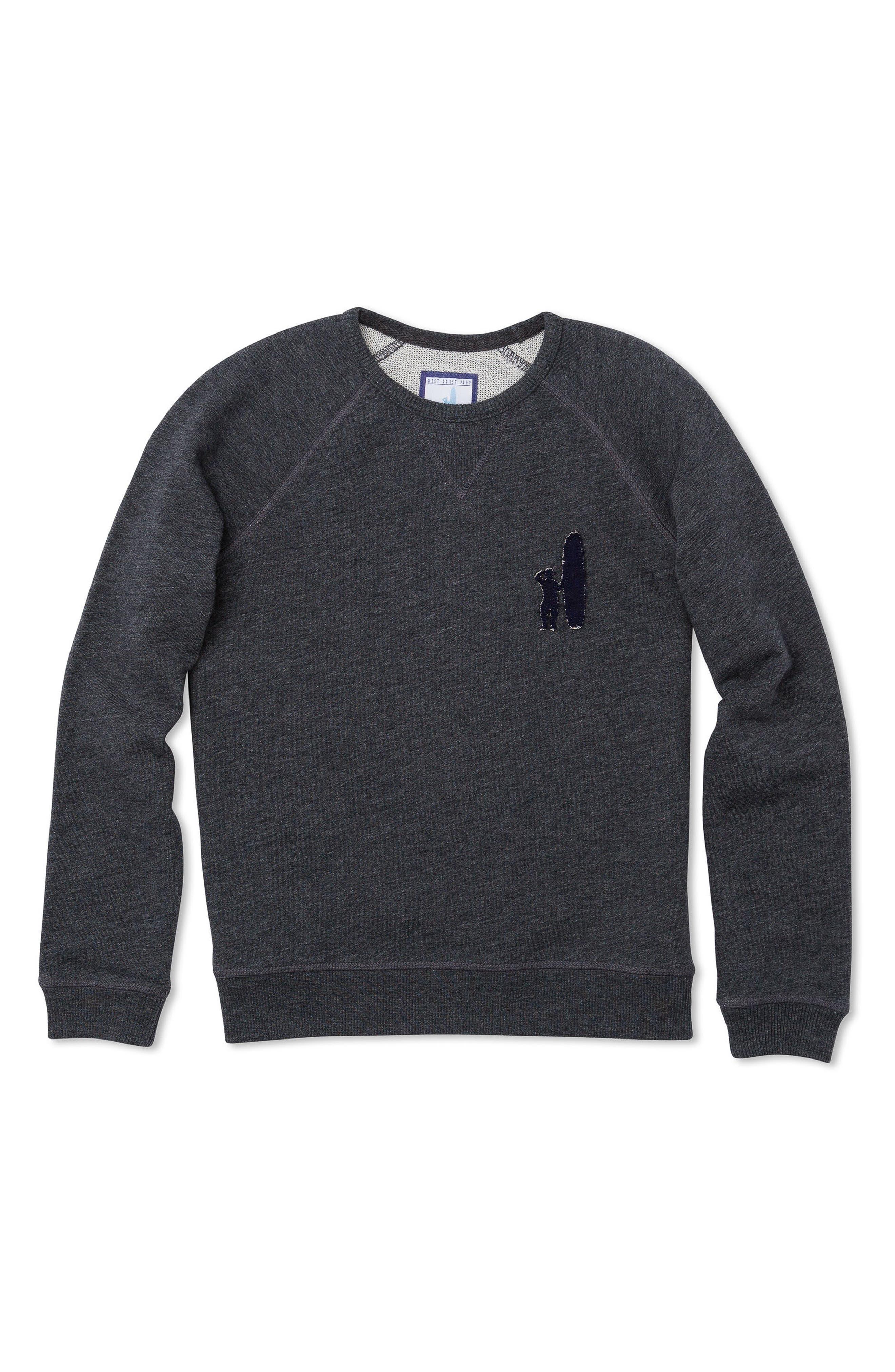 Riley Logo Sweatshirt,                             Main thumbnail 1, color,                             Pewter