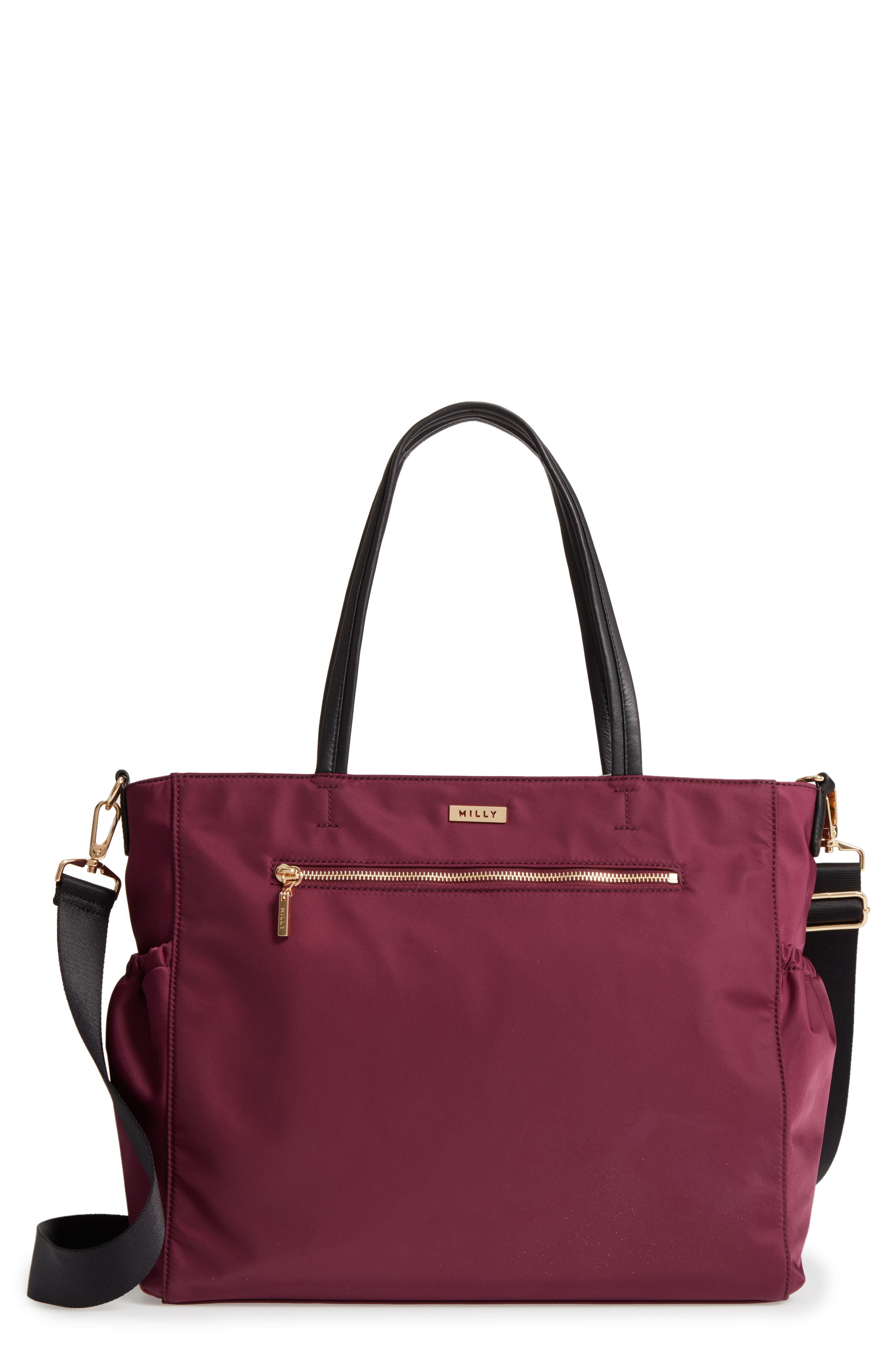 Alternate Image 1 Selected - Milly Minis Solid Diaper Bag
