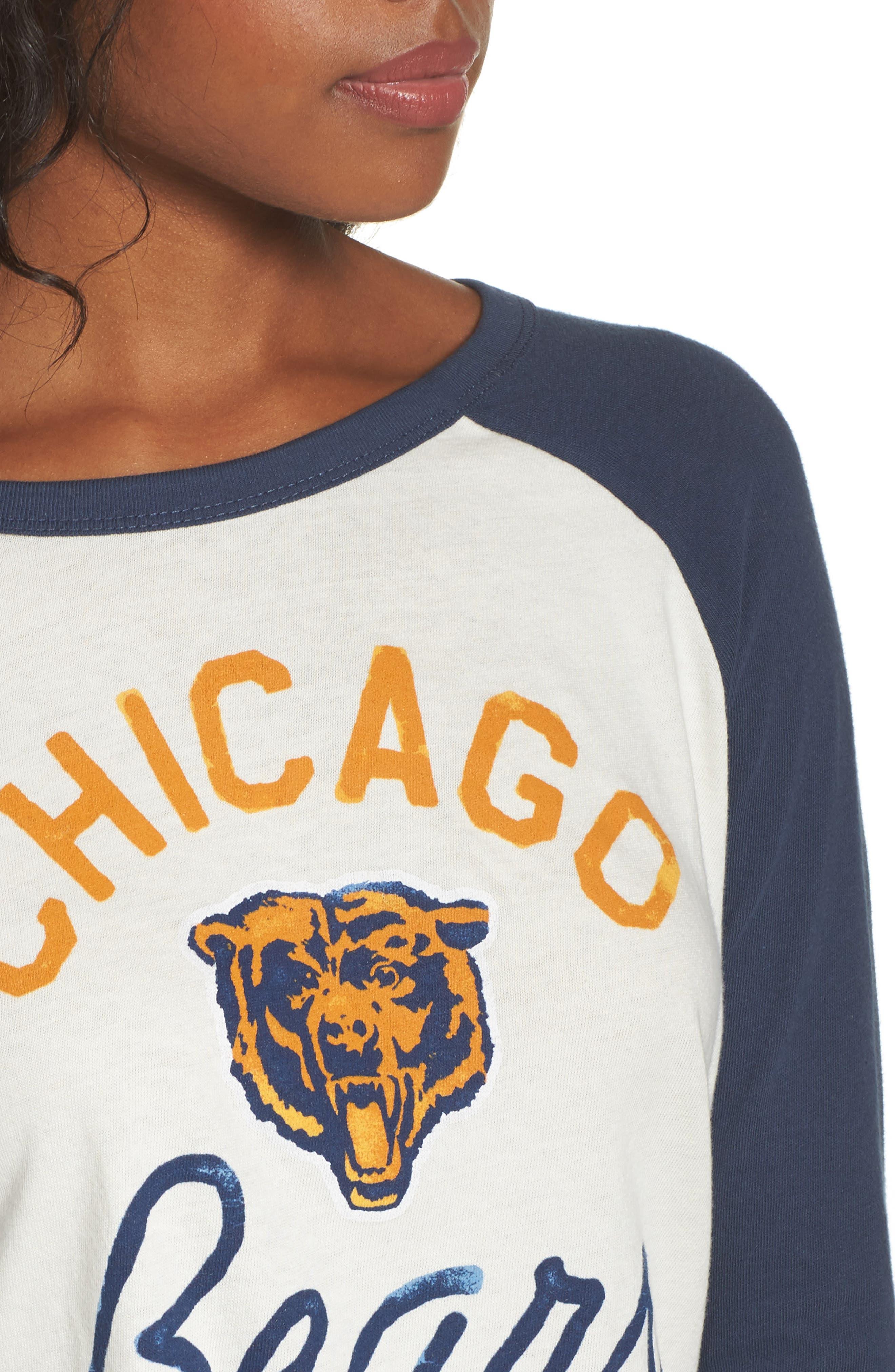 NFL Chicago Bears Raglan Tee,                             Alternate thumbnail 4, color,                             Sugar/ True Navy