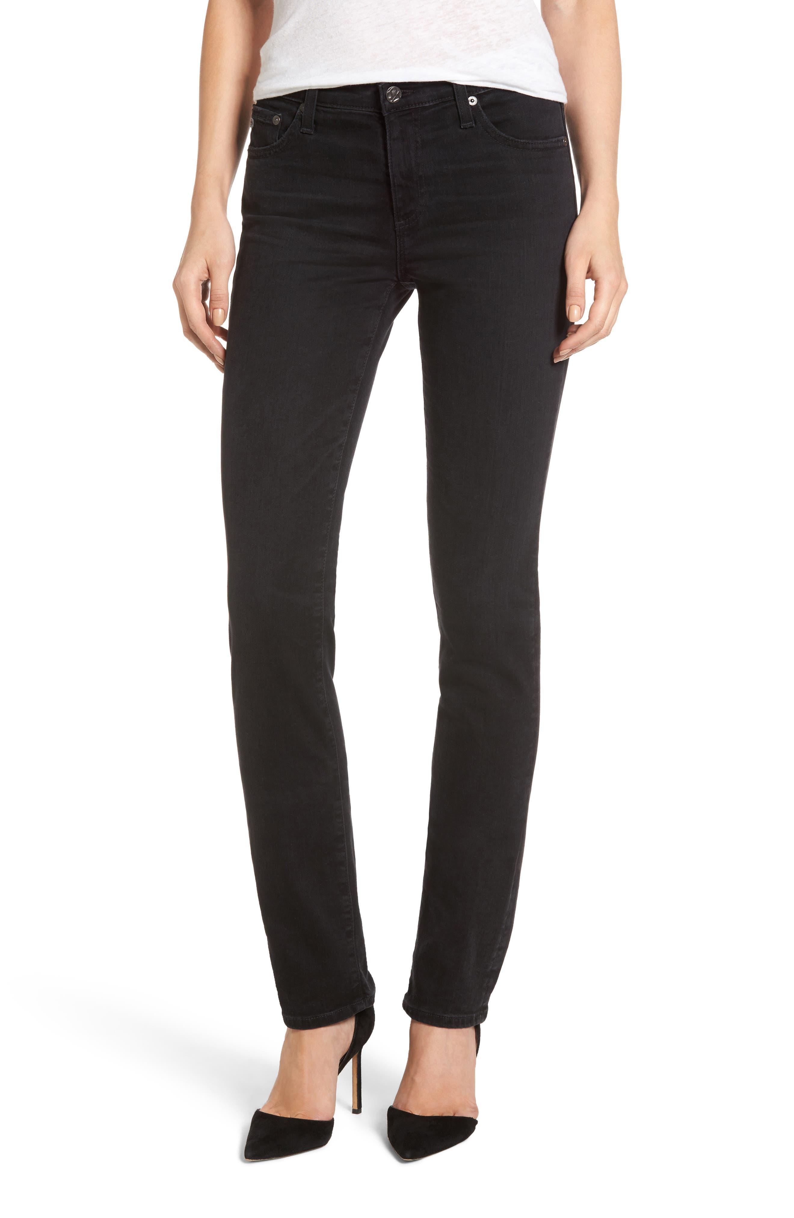 AG Harper Slim Straight Leg Jeans (3 Years Obsidian)