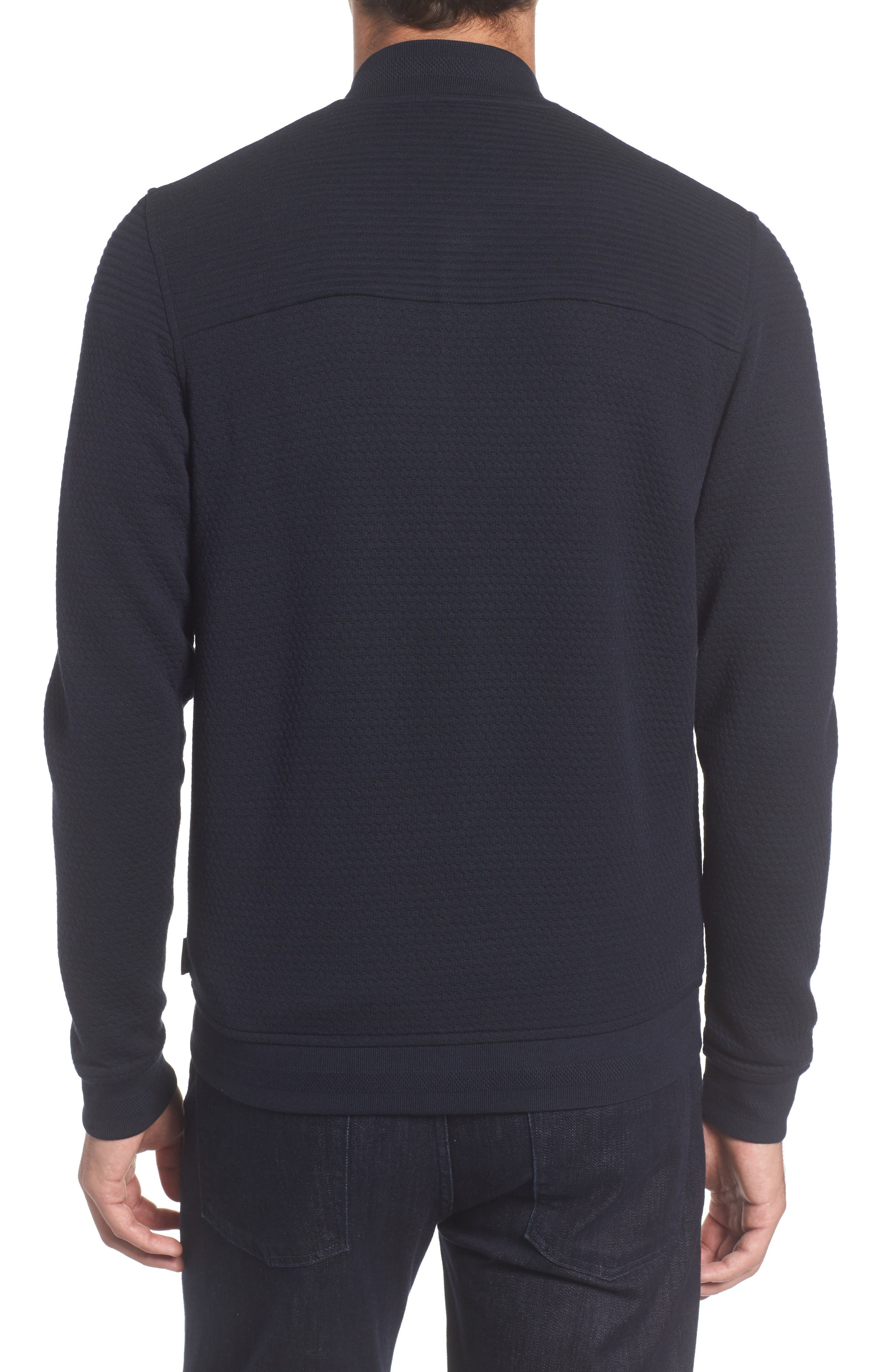 Alternate Image 2  - Ted Baker London Clive Quilted Jersey Bomber Jacket