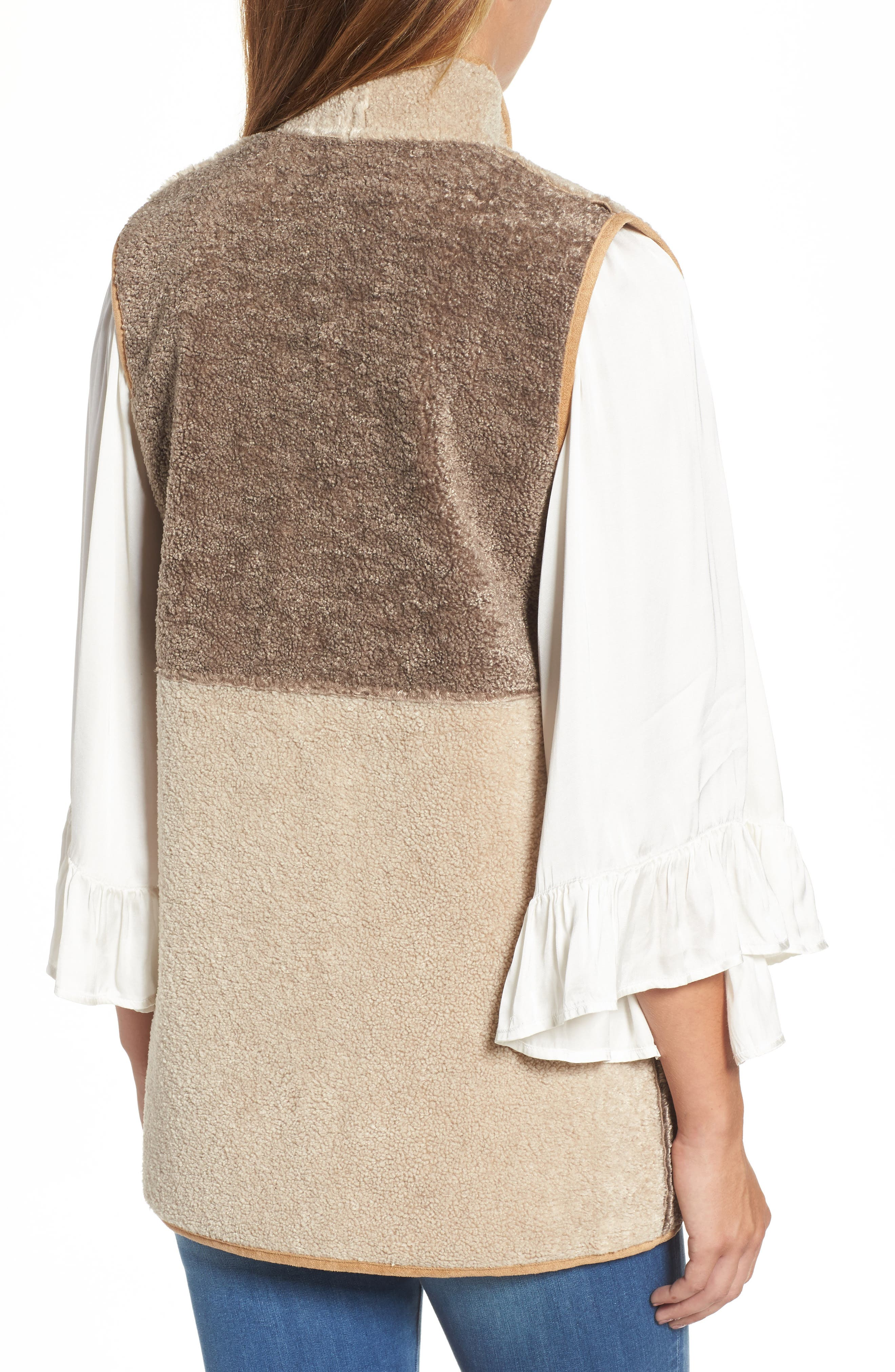 Reversible Faux Shearling Vest,                             Alternate thumbnail 2, color,                             Multi