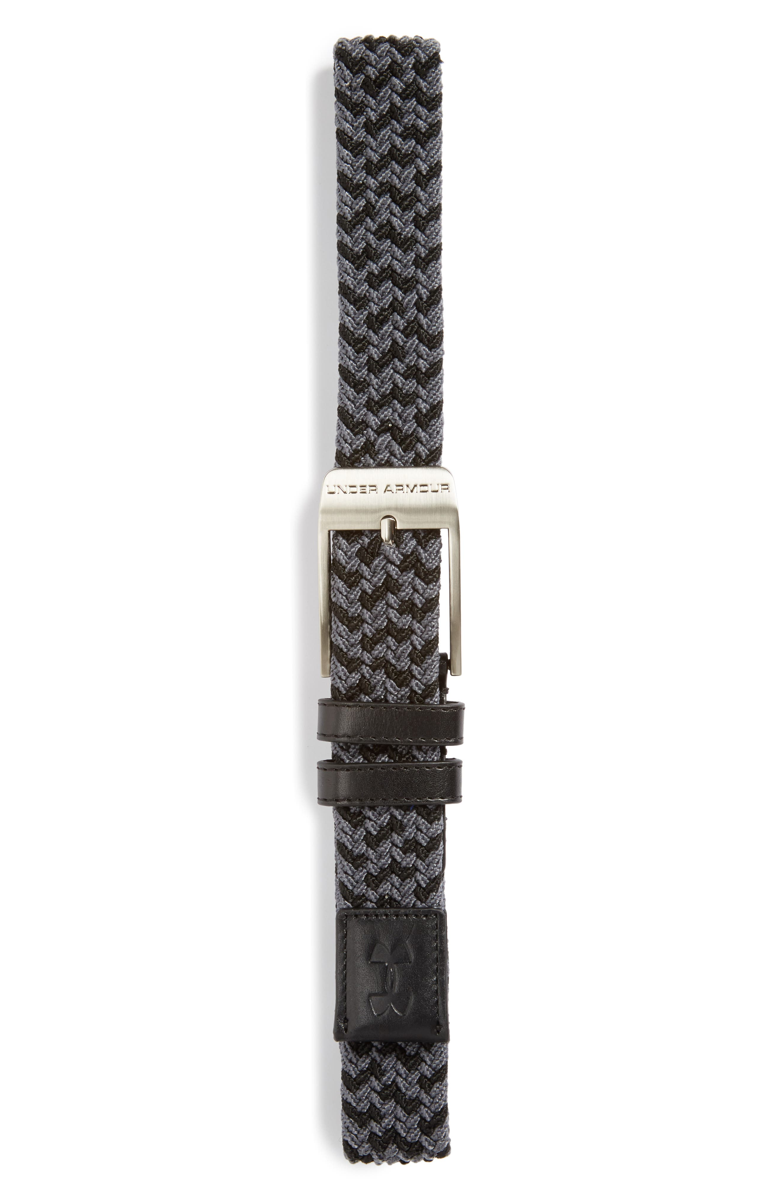 Braided Belt,                         Main,                         color, Black/ Rhino Grey/ Graphite