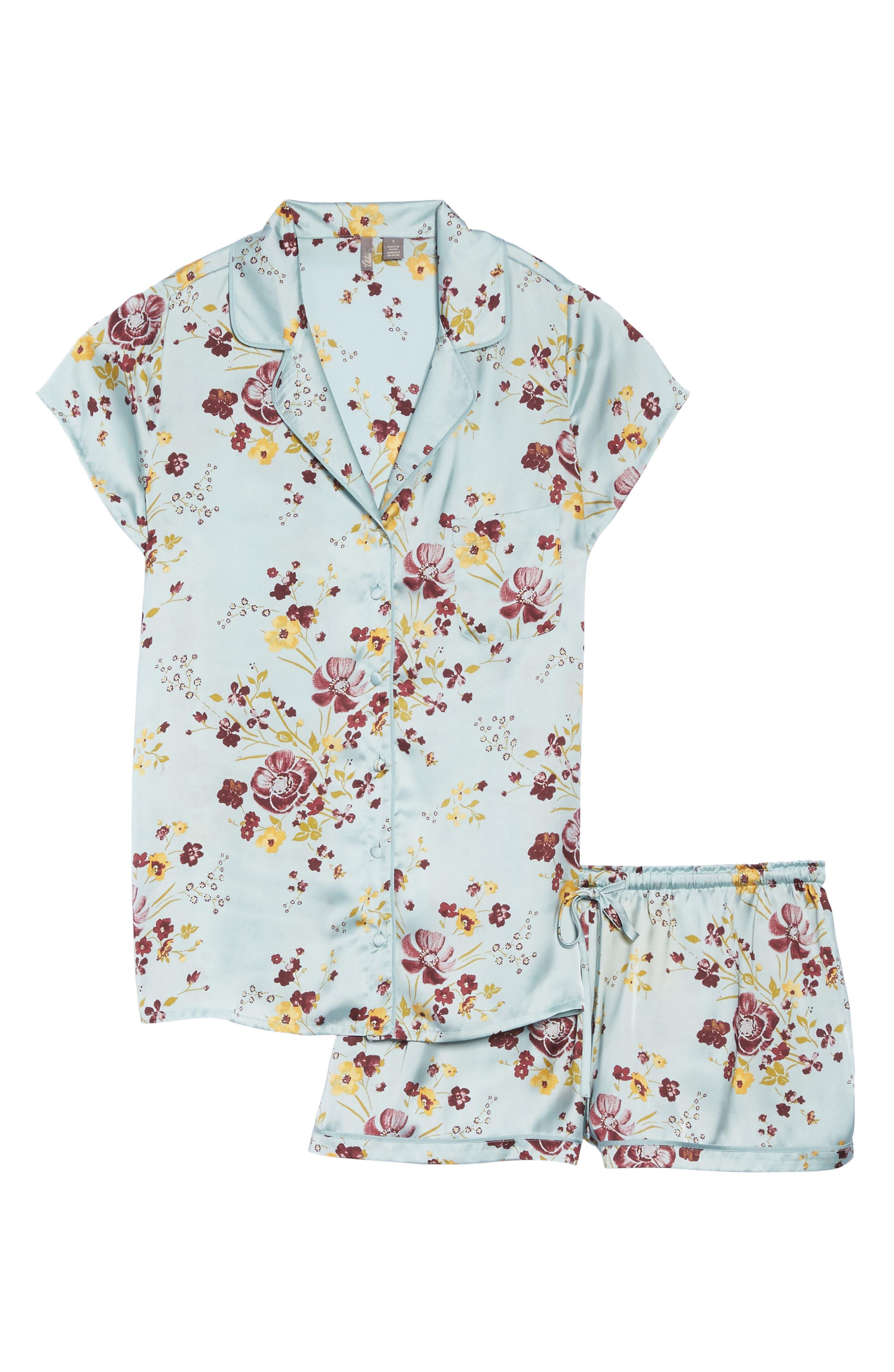 Alternate Image 5  - Chelsea28 Satin Pajamas