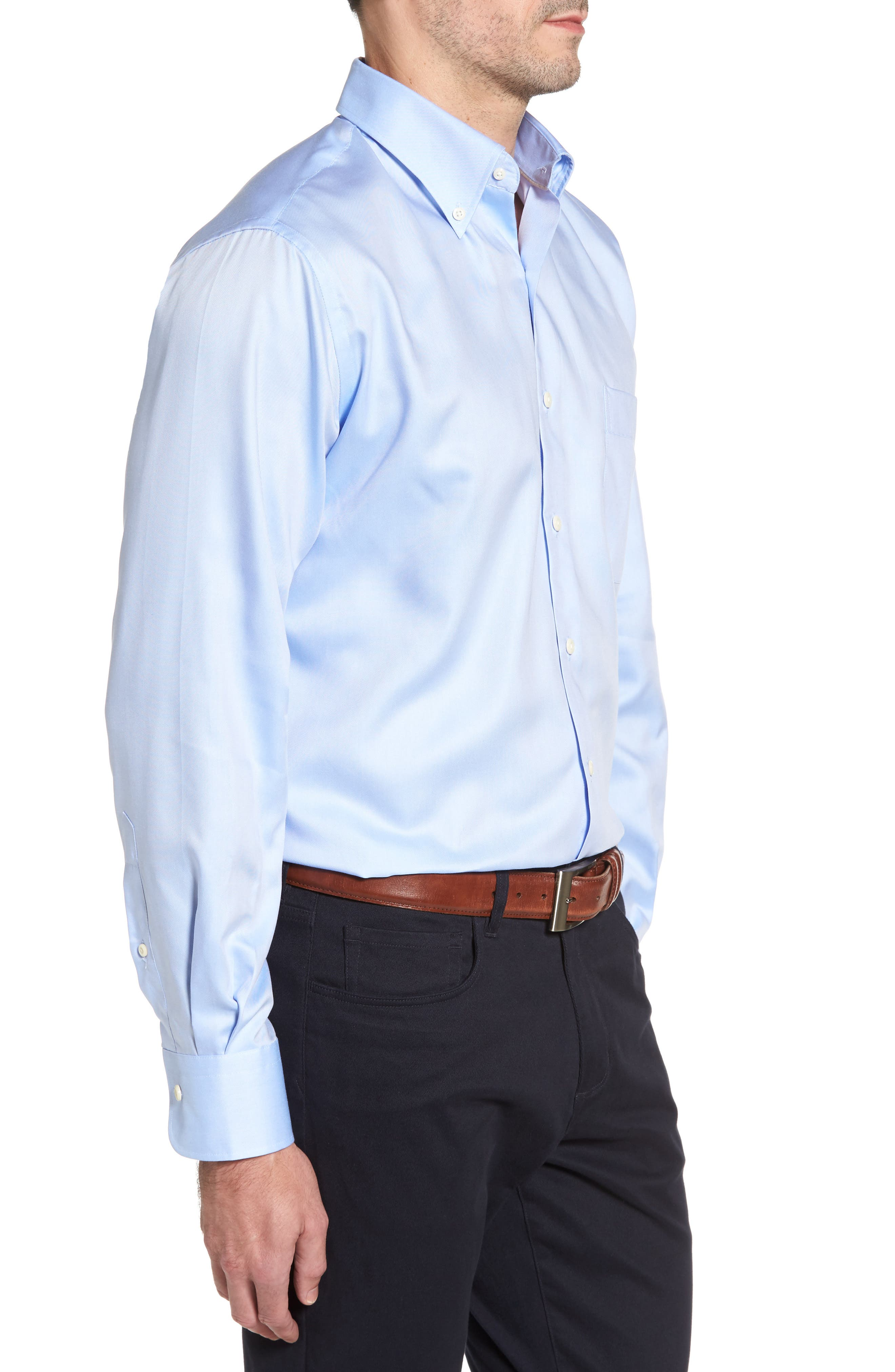 Alternate Image 3  - Peter Millar Crown Soft Pinpoint Regular Fit Sport Shirt