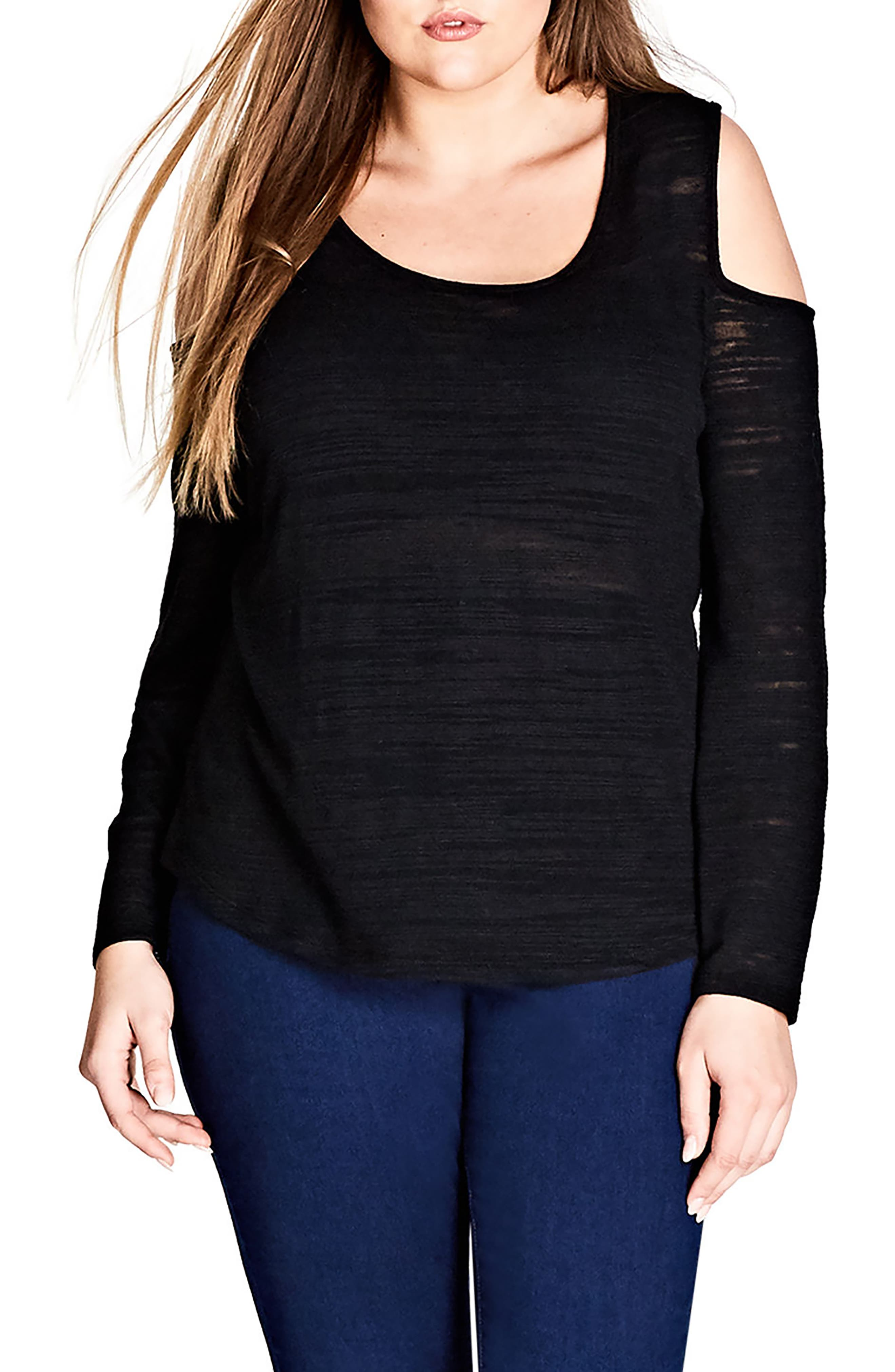 Main Image - City Chic Cold Shoulder Top