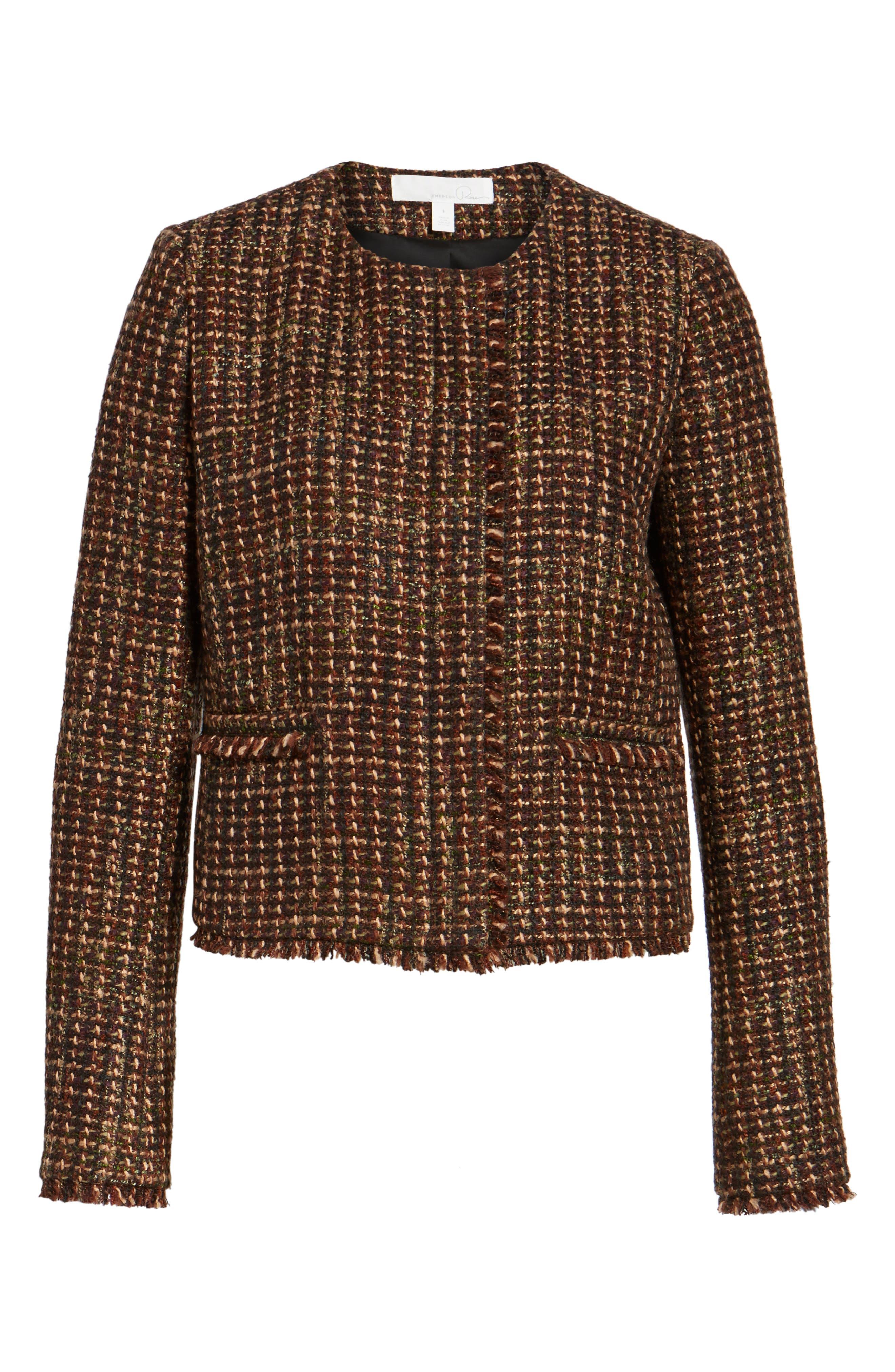 Alternate Image 6  - Emerson Rose Crop Tweed Jacket