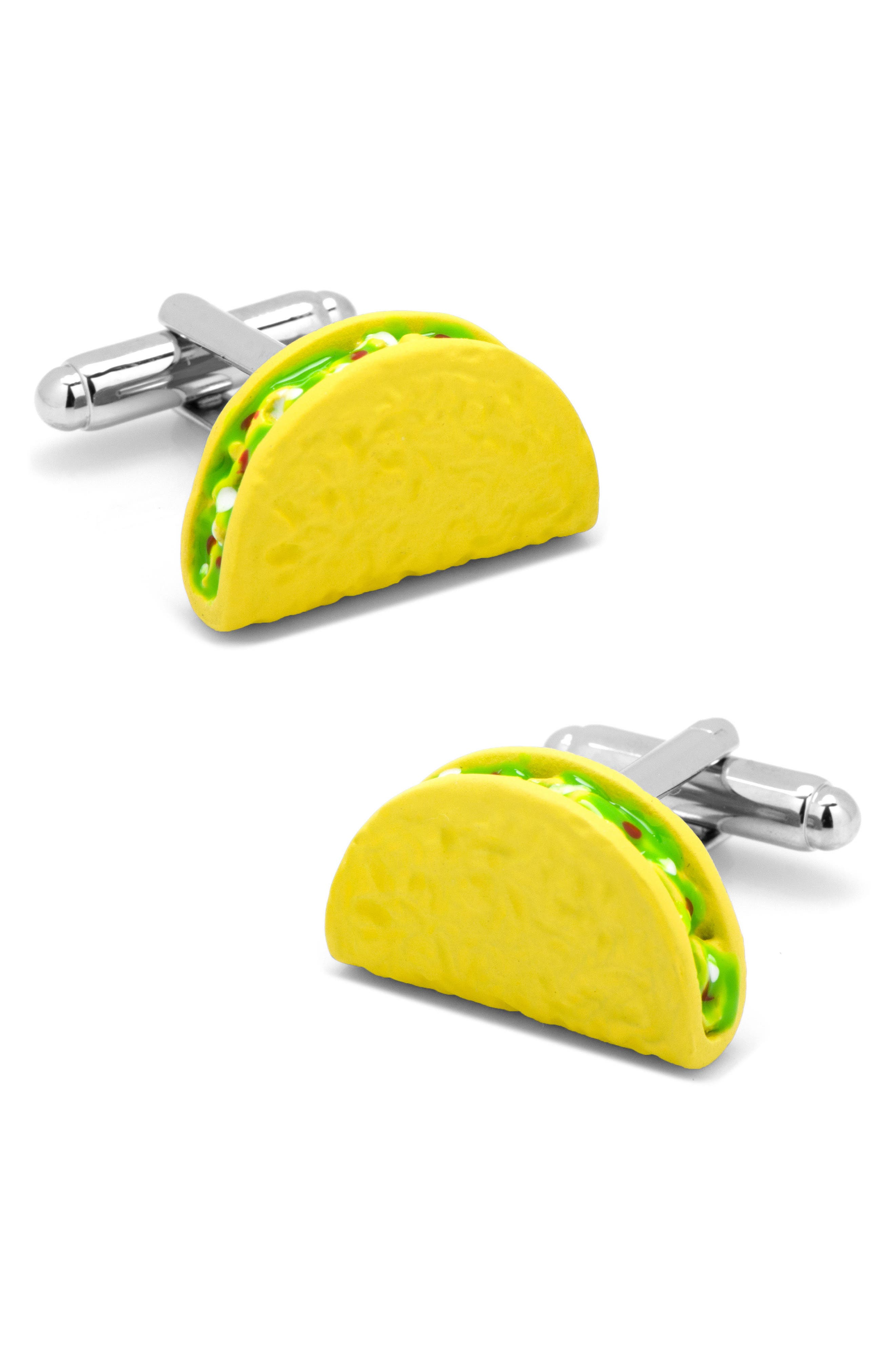 Taco Cuff Links,                             Main thumbnail 1, color,                             Yellow