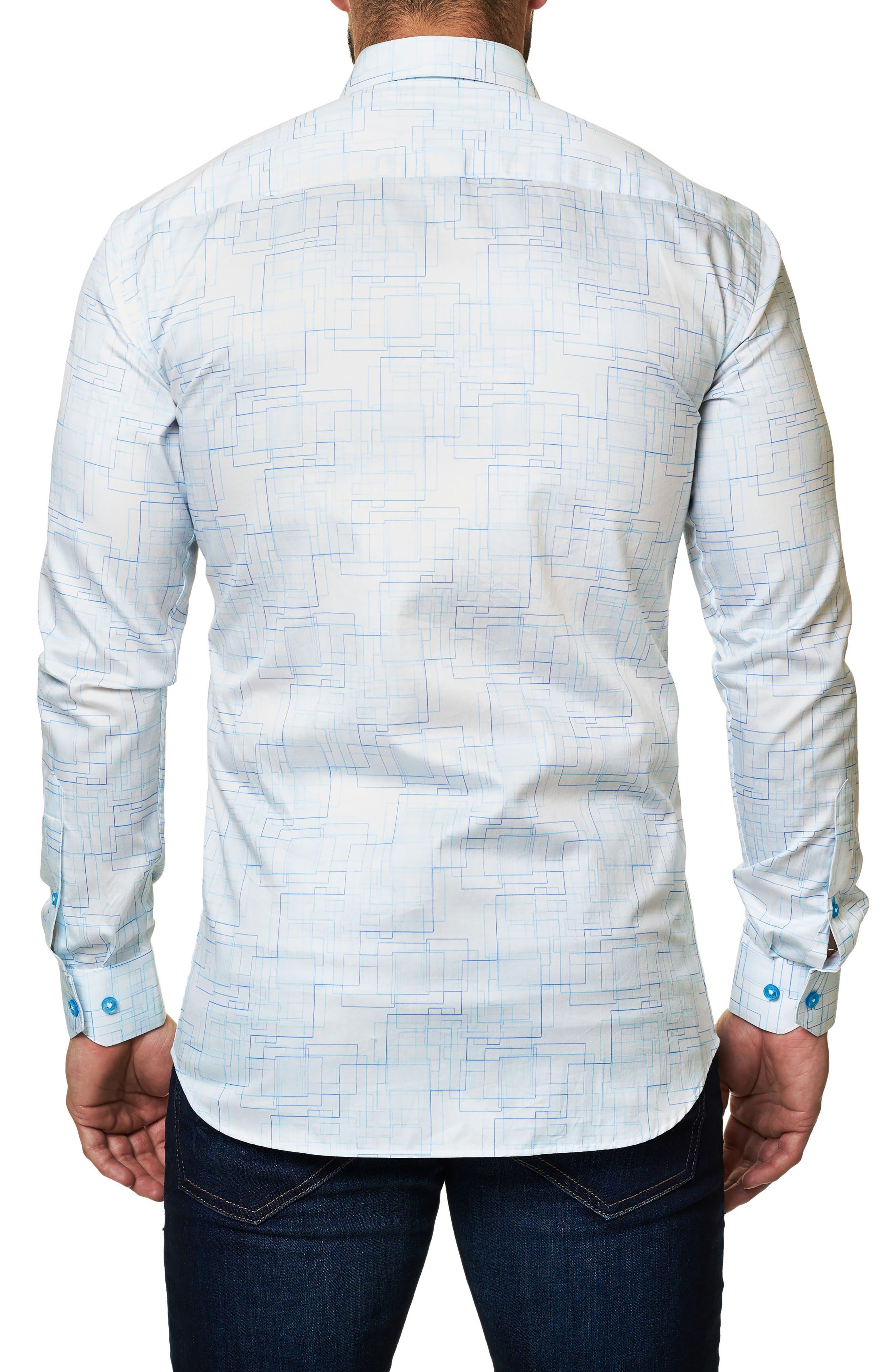 Alternate Image 2  - Maceoo Trim Fit Geo Print Sport Shirt