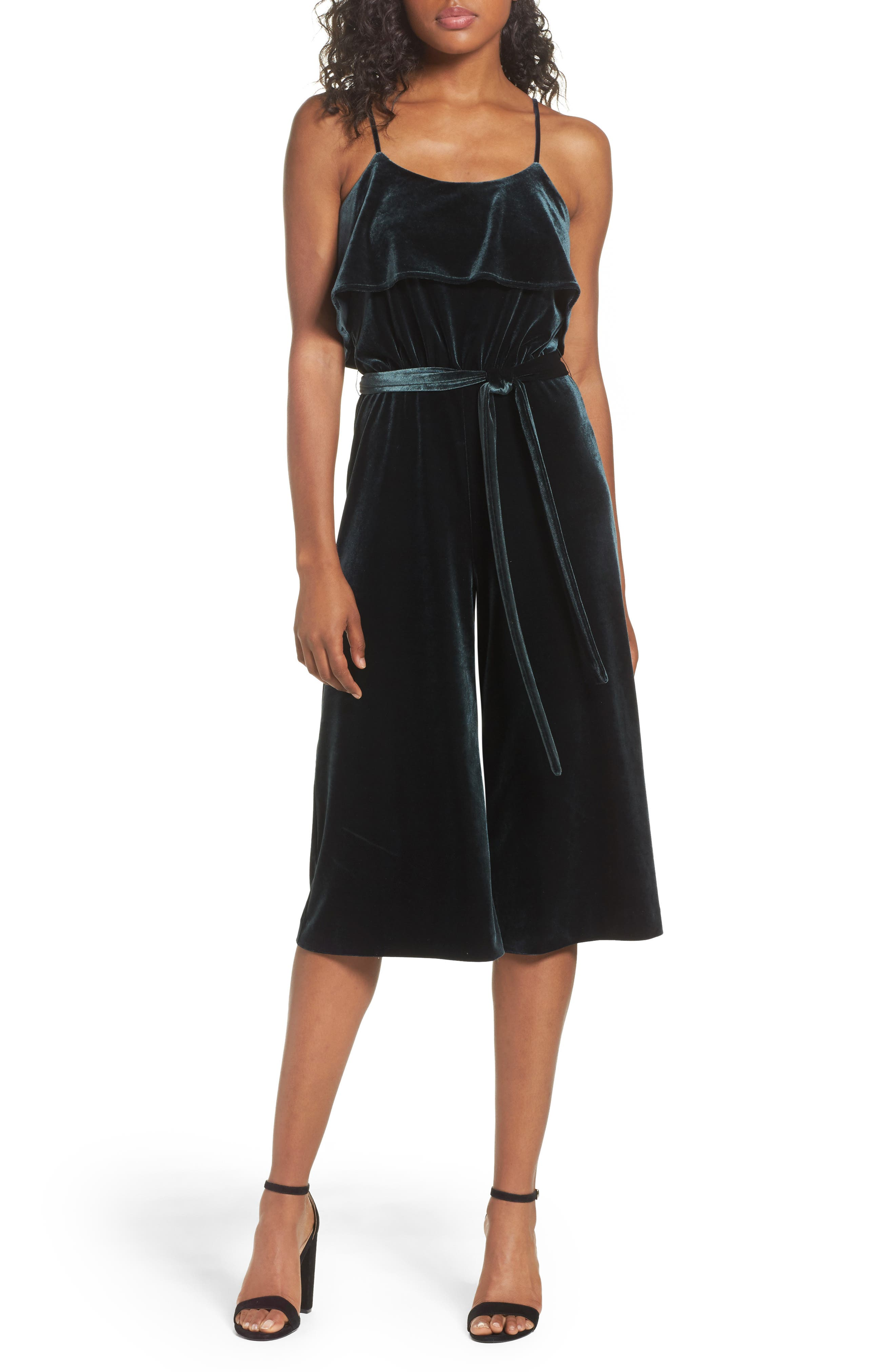 Hustle Culotte Jumpsuit,                         Main,                         color, Spruce