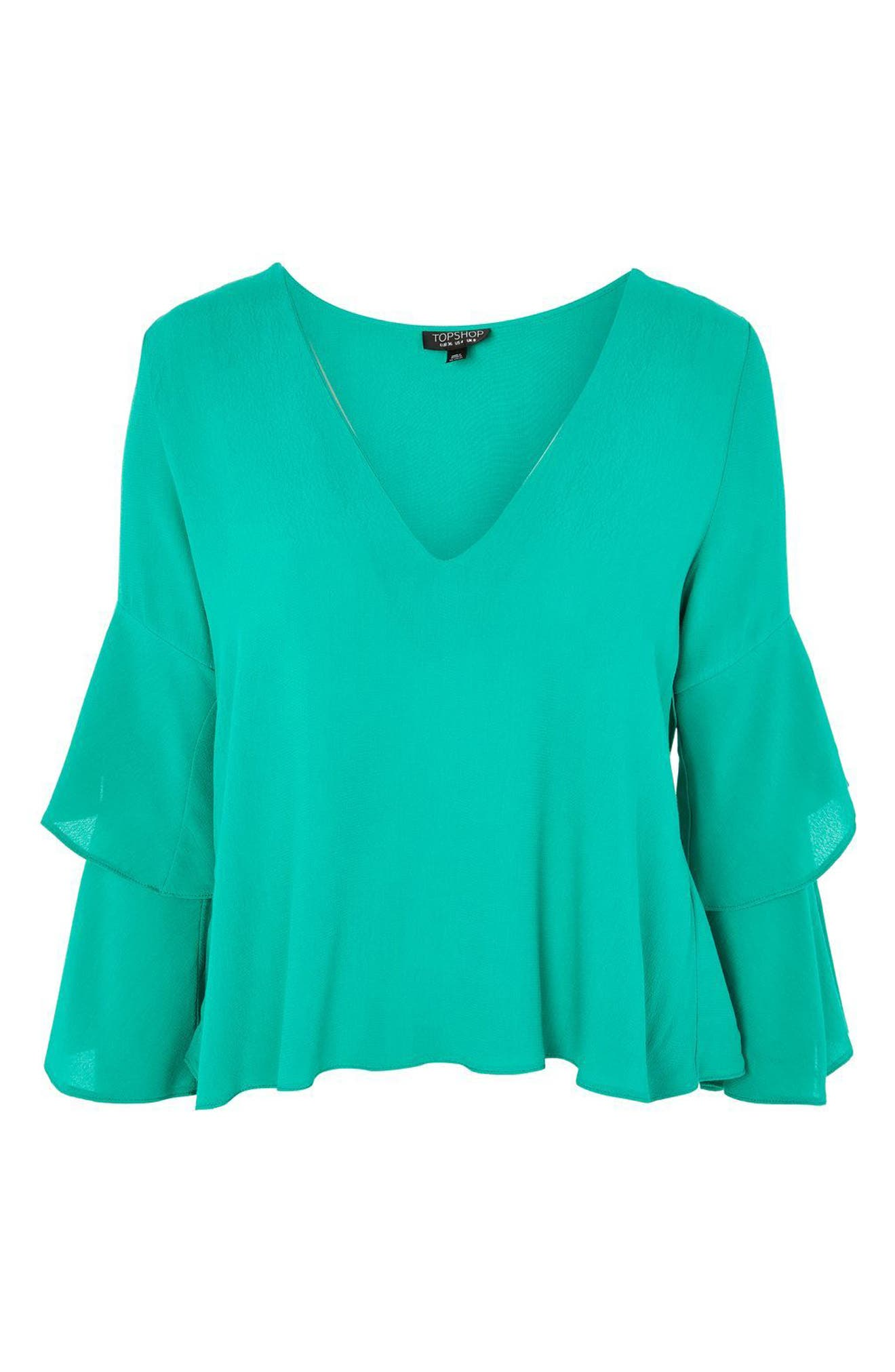 Alternate Image 3  - Topshop Double Sleeve Layer Top