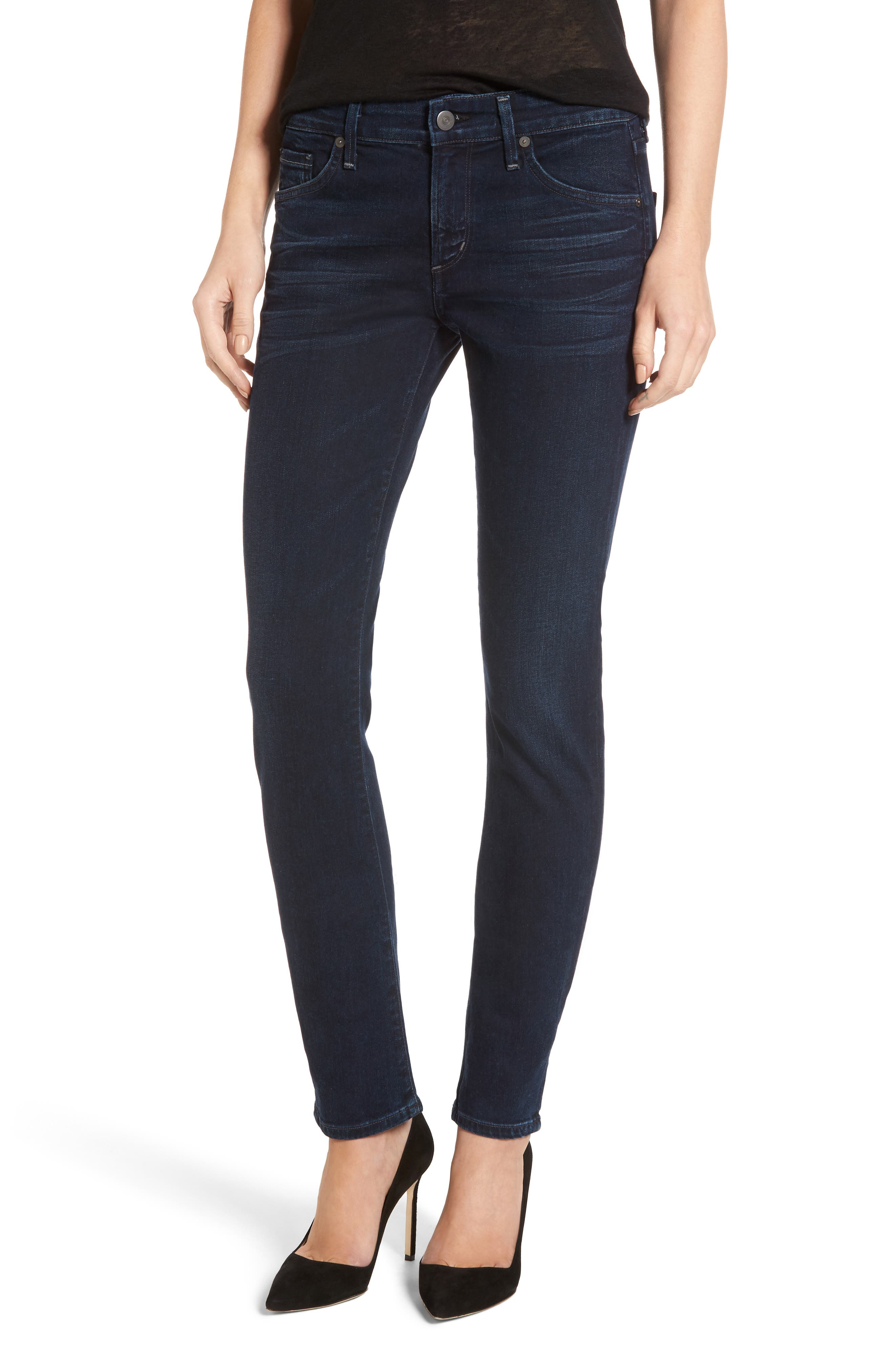 Main Image - Citizens of Humanity Arielle Skinny Jeans (Midnight Blue)