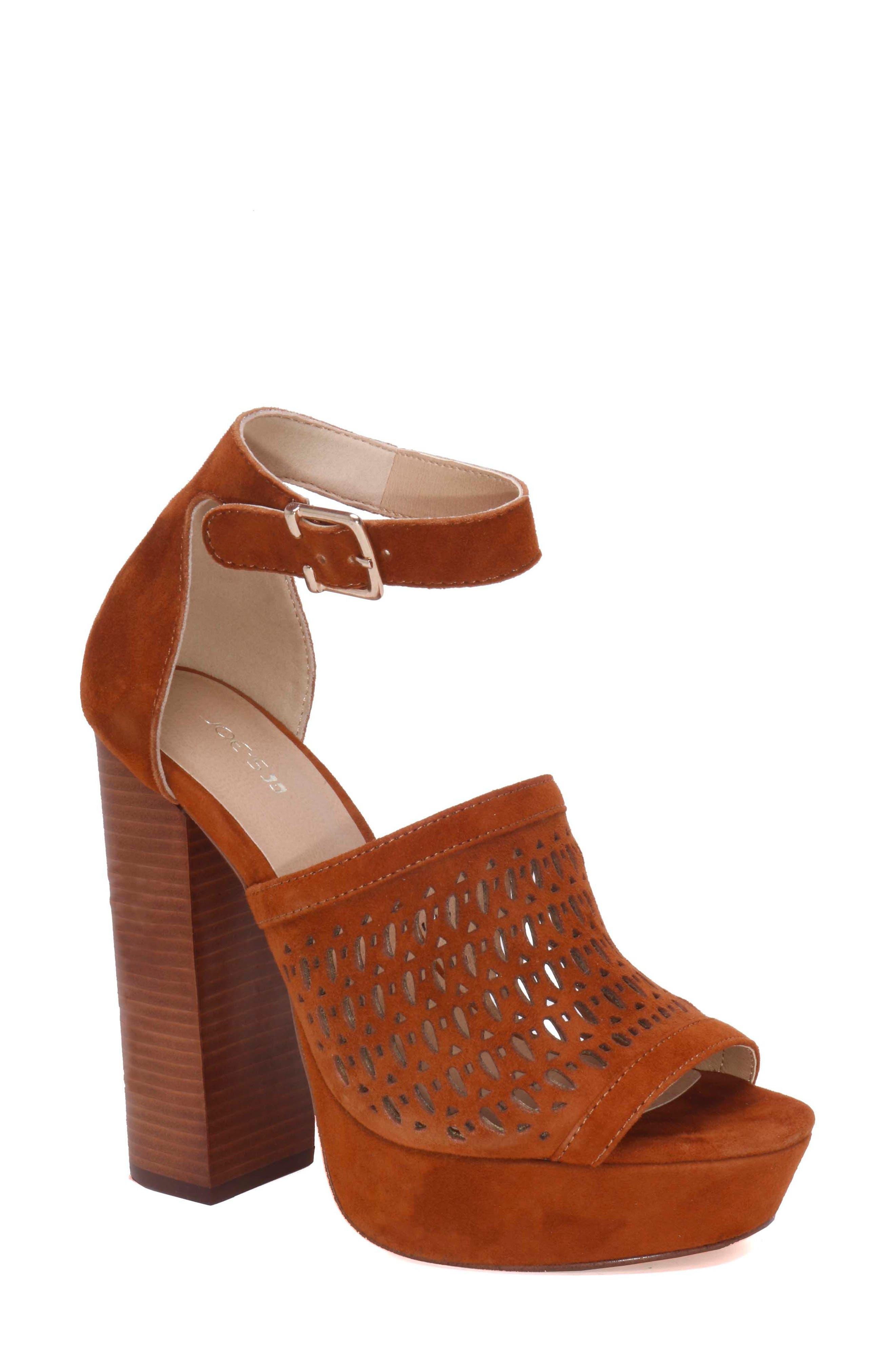 Lorne Platform Sandal,                         Main,                         color, Camel Suede
