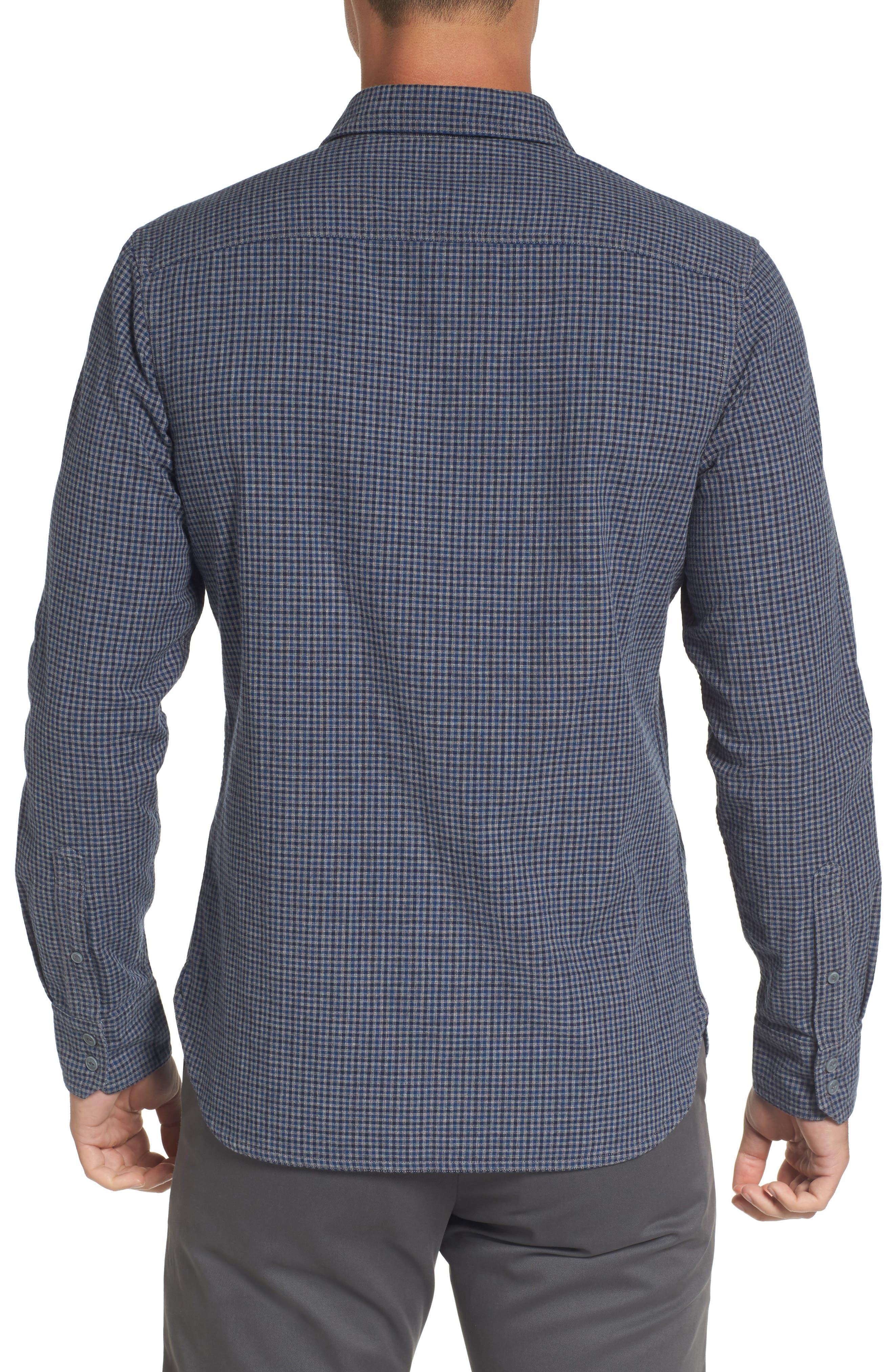 Alternate Image 2  - Nordstrom Men's Shop Slim Fit Micro Check Sport Shirt