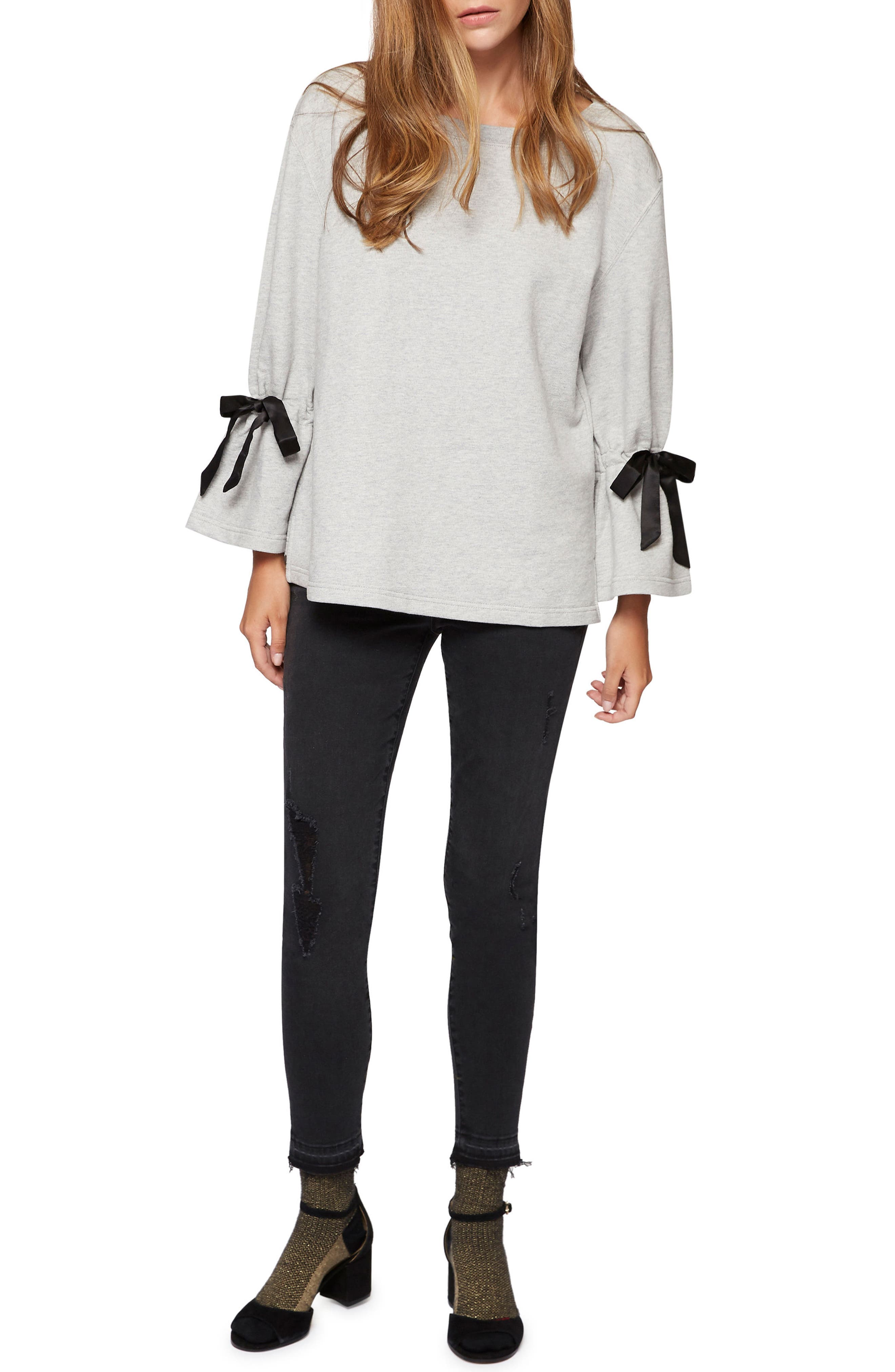 Alternate Image 3  - Sanctuary Tierney Tie Sleeve Sweatshirt