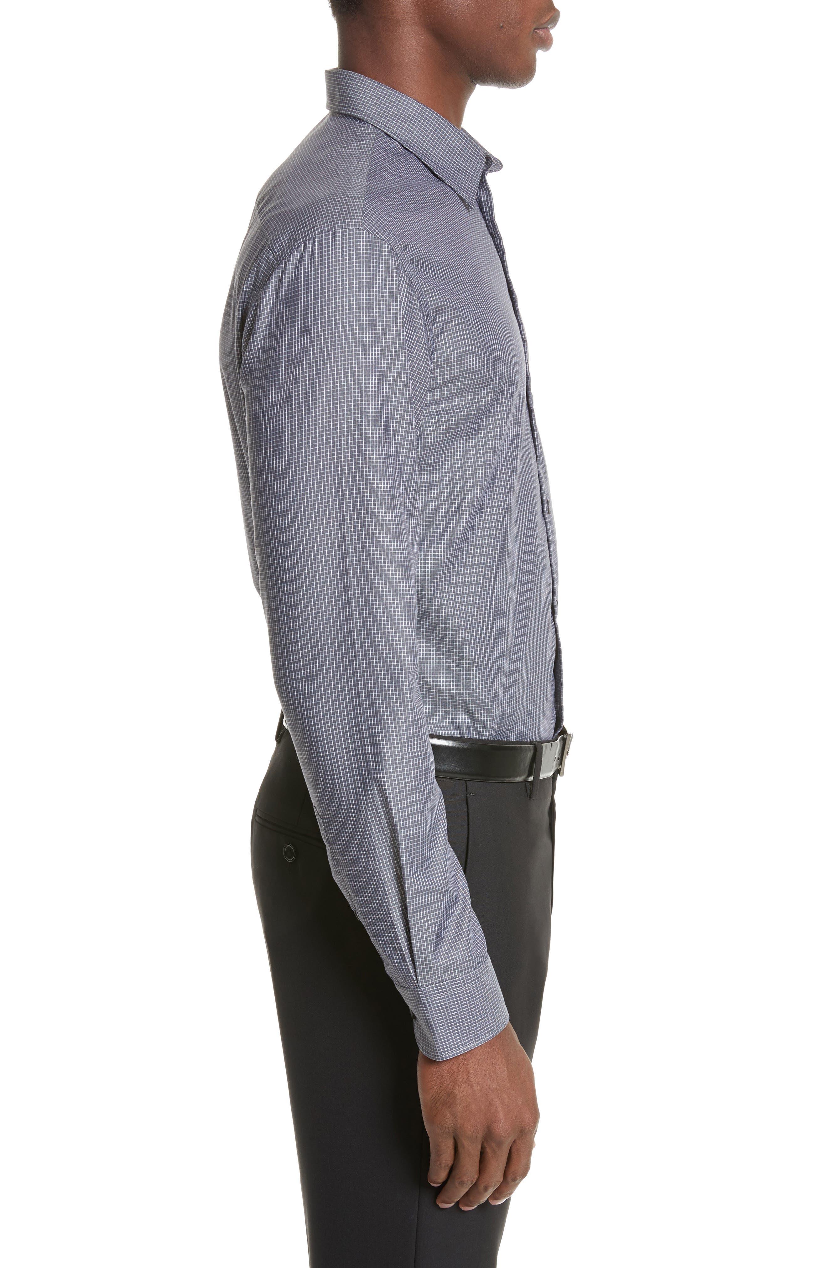 Regular Fit Mini Box Sport Shirt,                             Alternate thumbnail 4, color,                             Red Rib