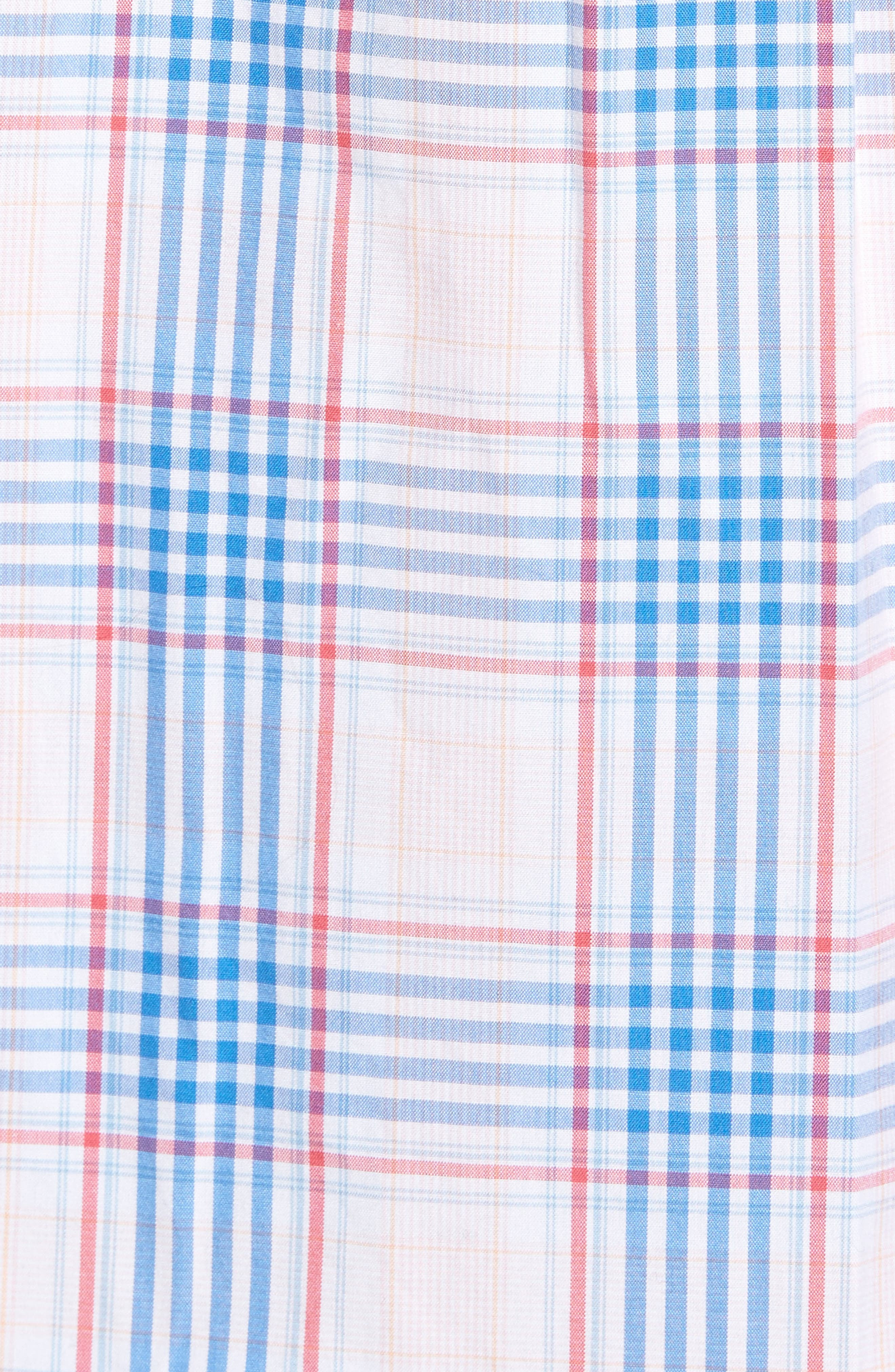 Pelican Plaid Tucker Classic Fit Sport Shirt,                             Alternate thumbnail 5, color,                             Rose Pink
