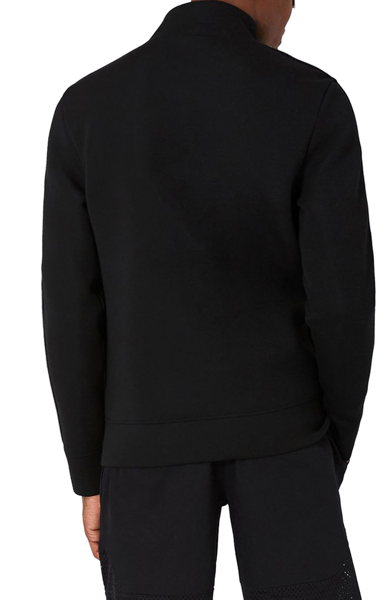 AAA Collection Zip Track Jacket,                             Alternate thumbnail 2, color,                             Black
