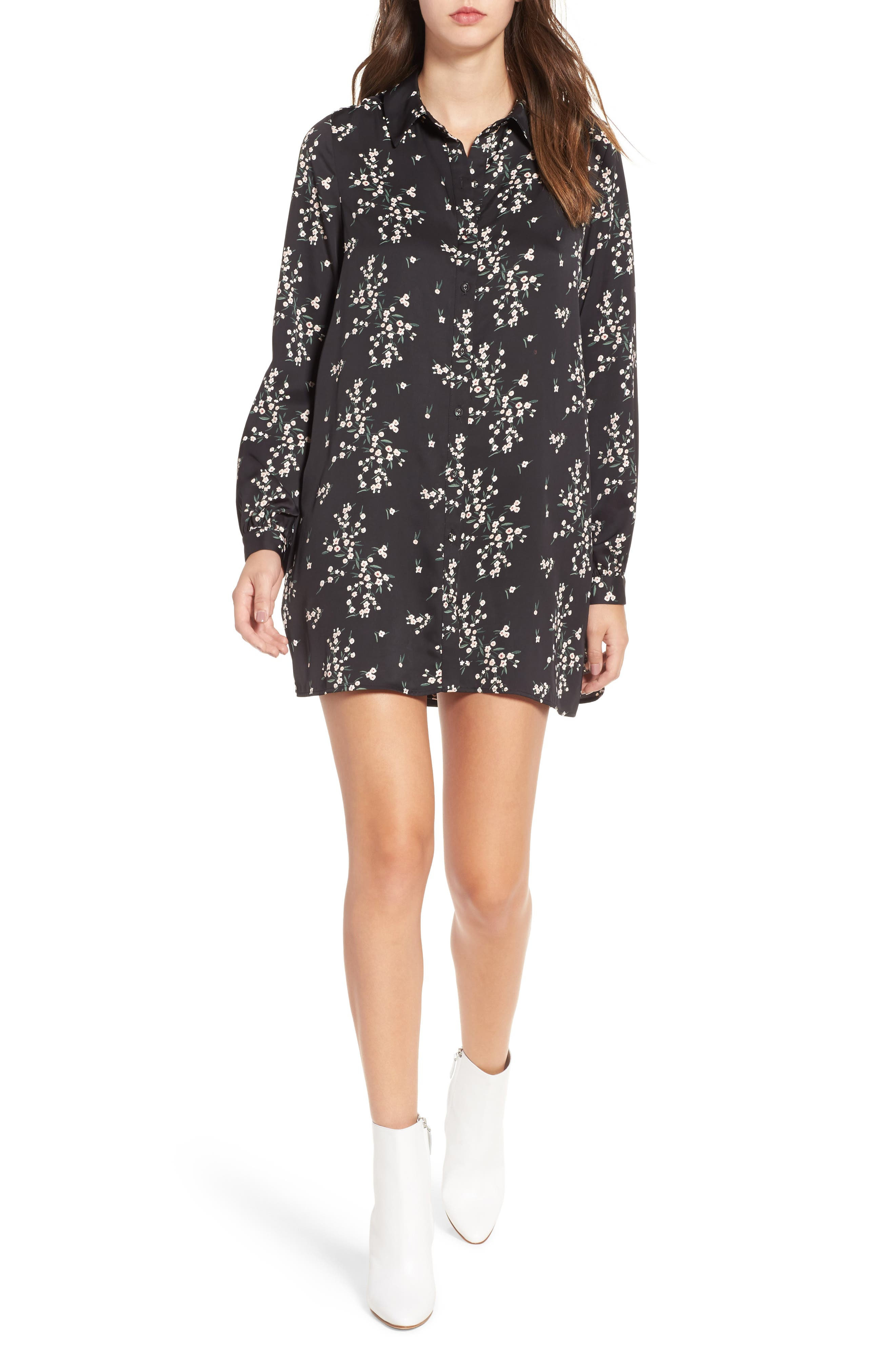 L'Academie The Swing Shirtdress,                         Main,                         color, Ditsy Blossom