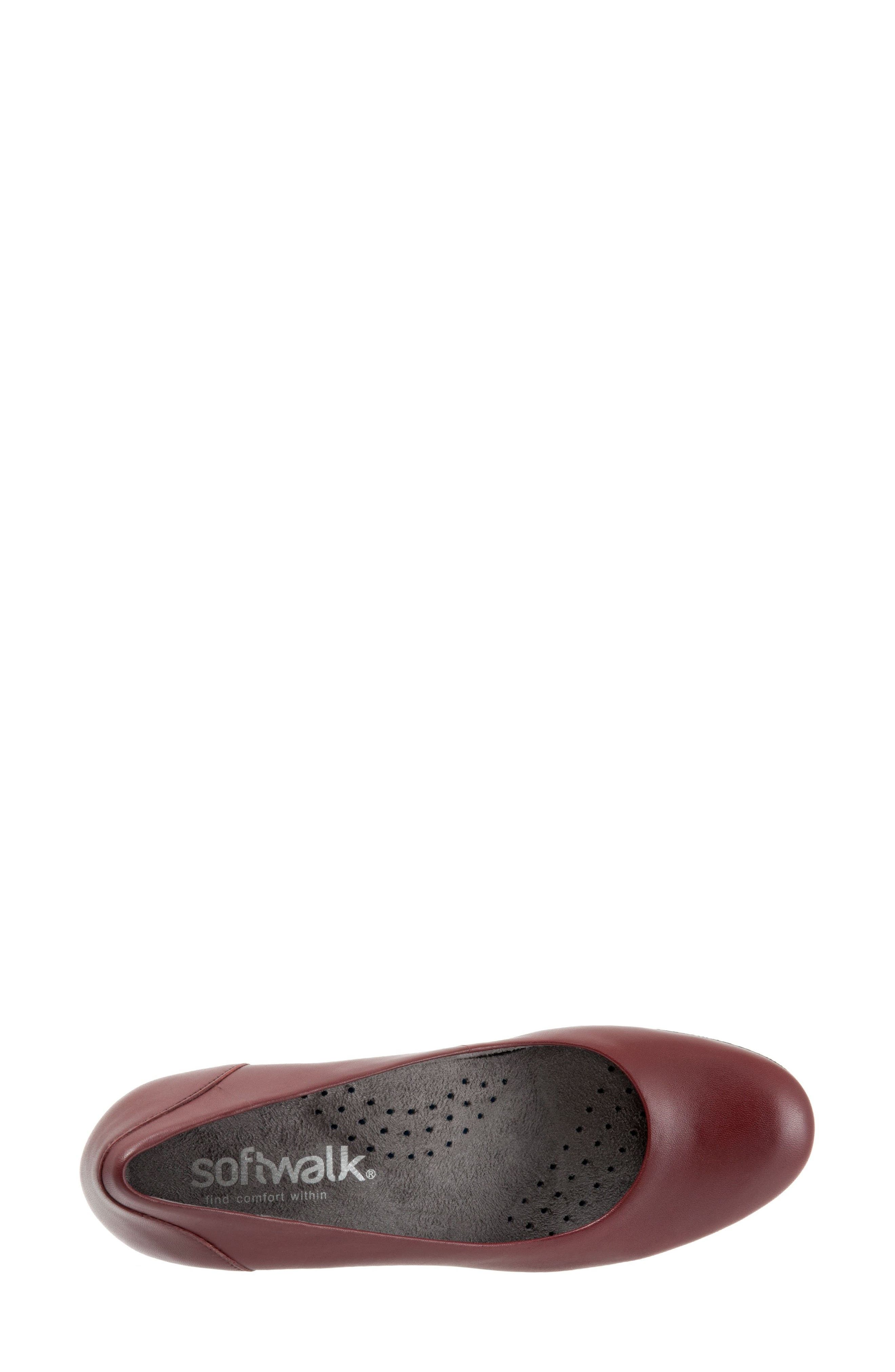 Imperial II Pump,                             Alternate thumbnail 2, color,                             Dark Red Leather