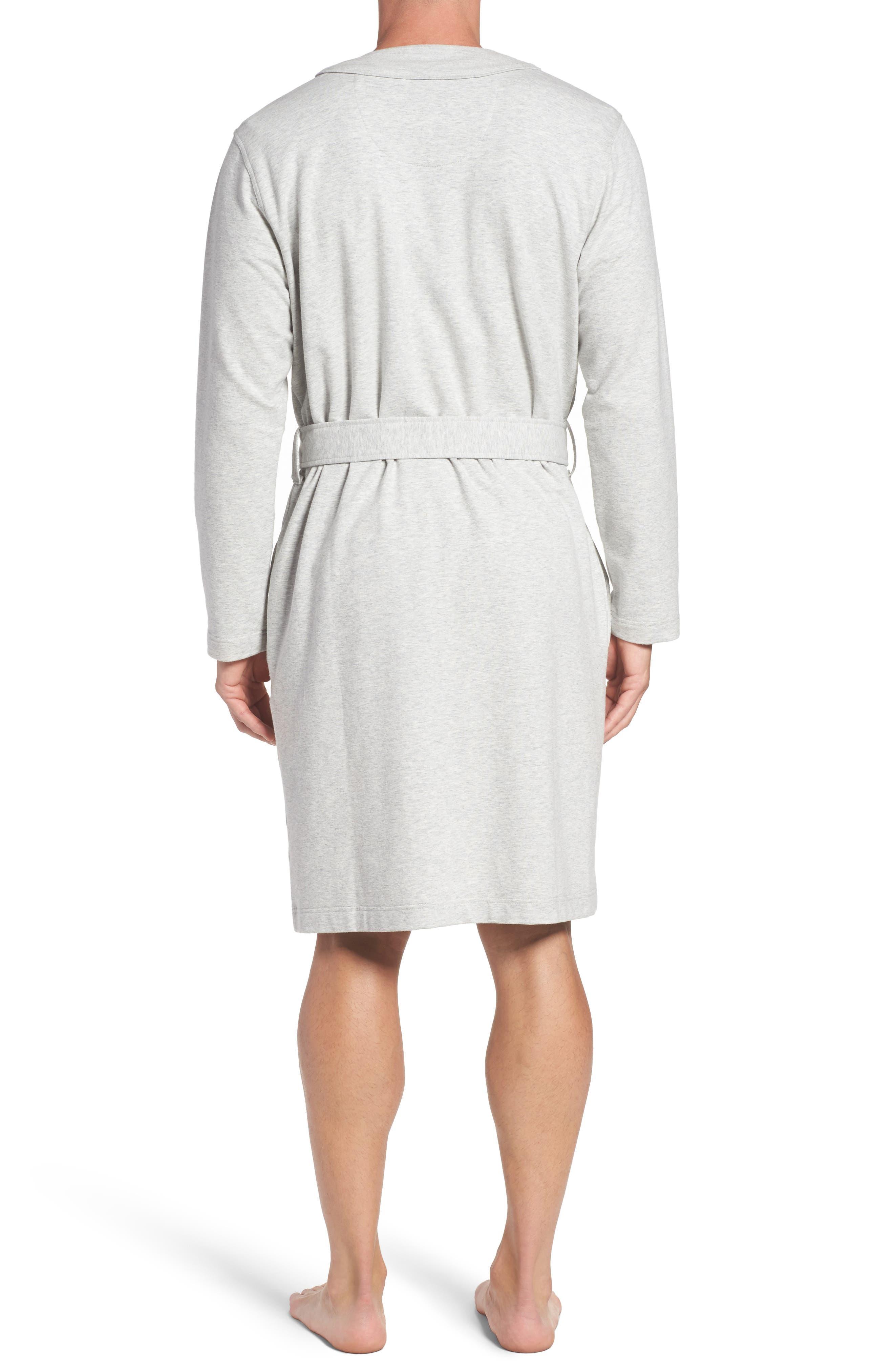 Samuel Stretch Cotton Robe,                             Alternate thumbnail 2, color,                             Seal Heather