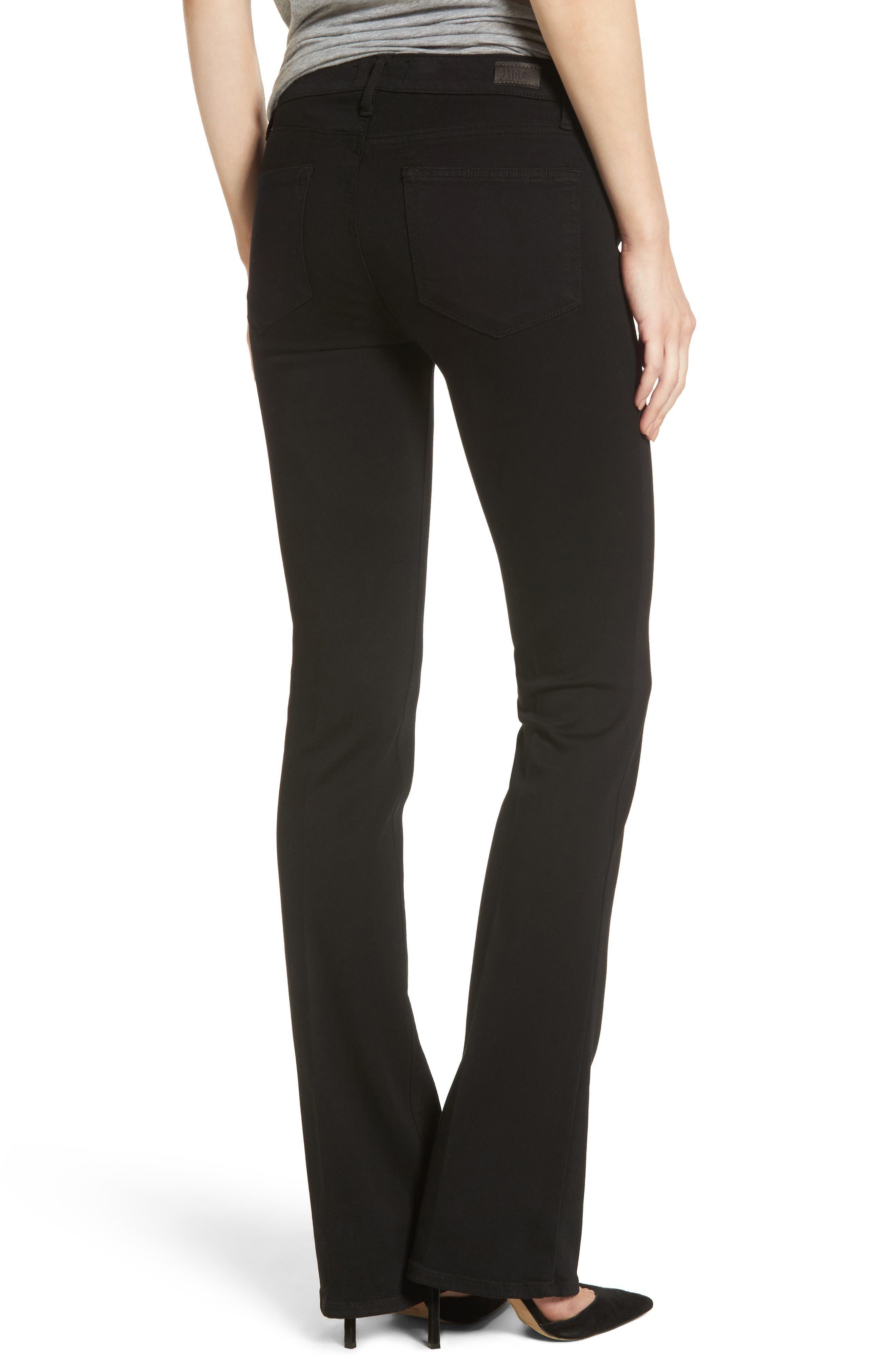 Alternate Image 2  - PAIGE Transcend - Manhattan Bootcut Jeans (Black Shadow)