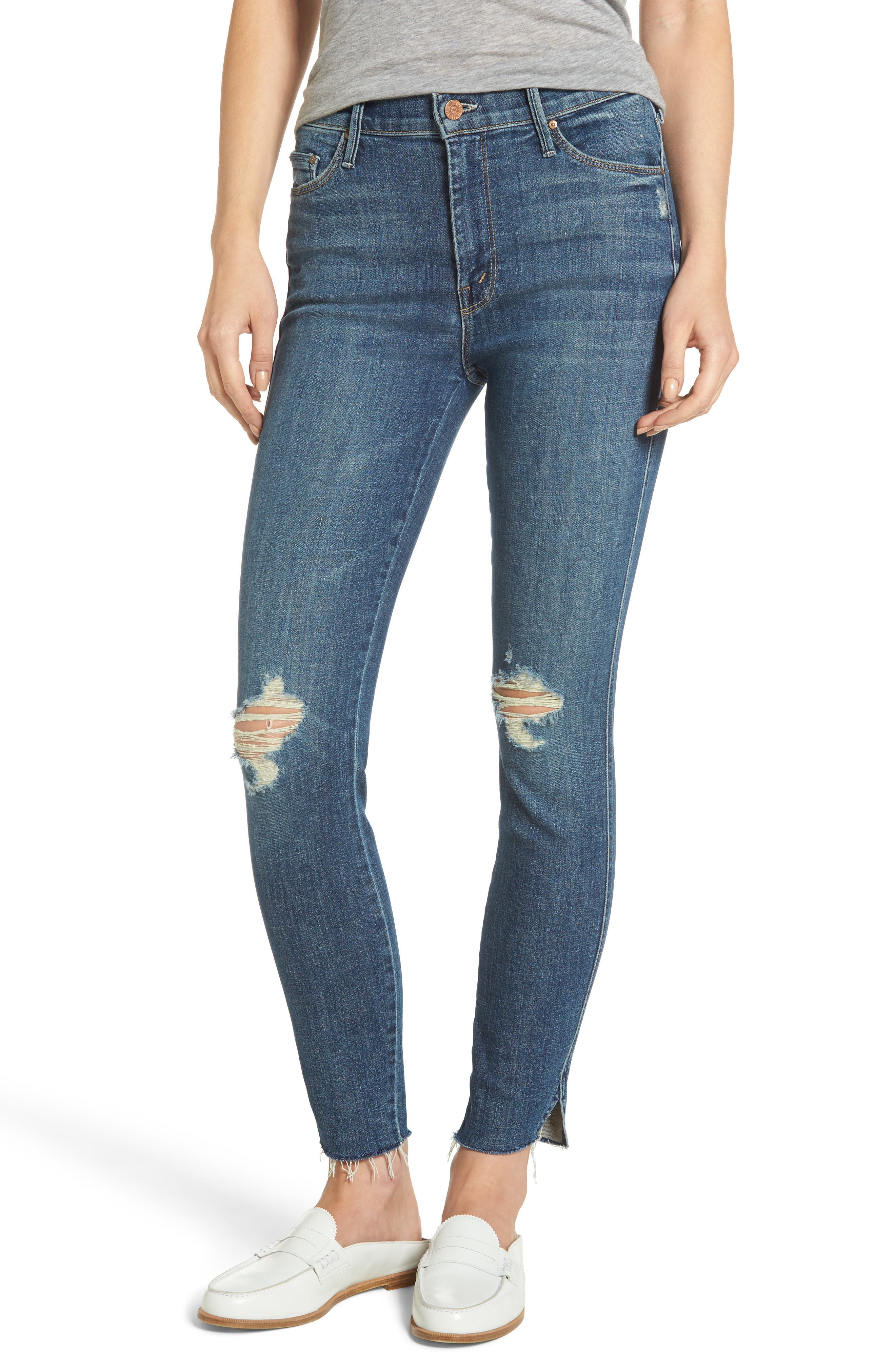 The Vamp Crop Skinny Jeans,                         Main,                         color, Crazy Like A Fox