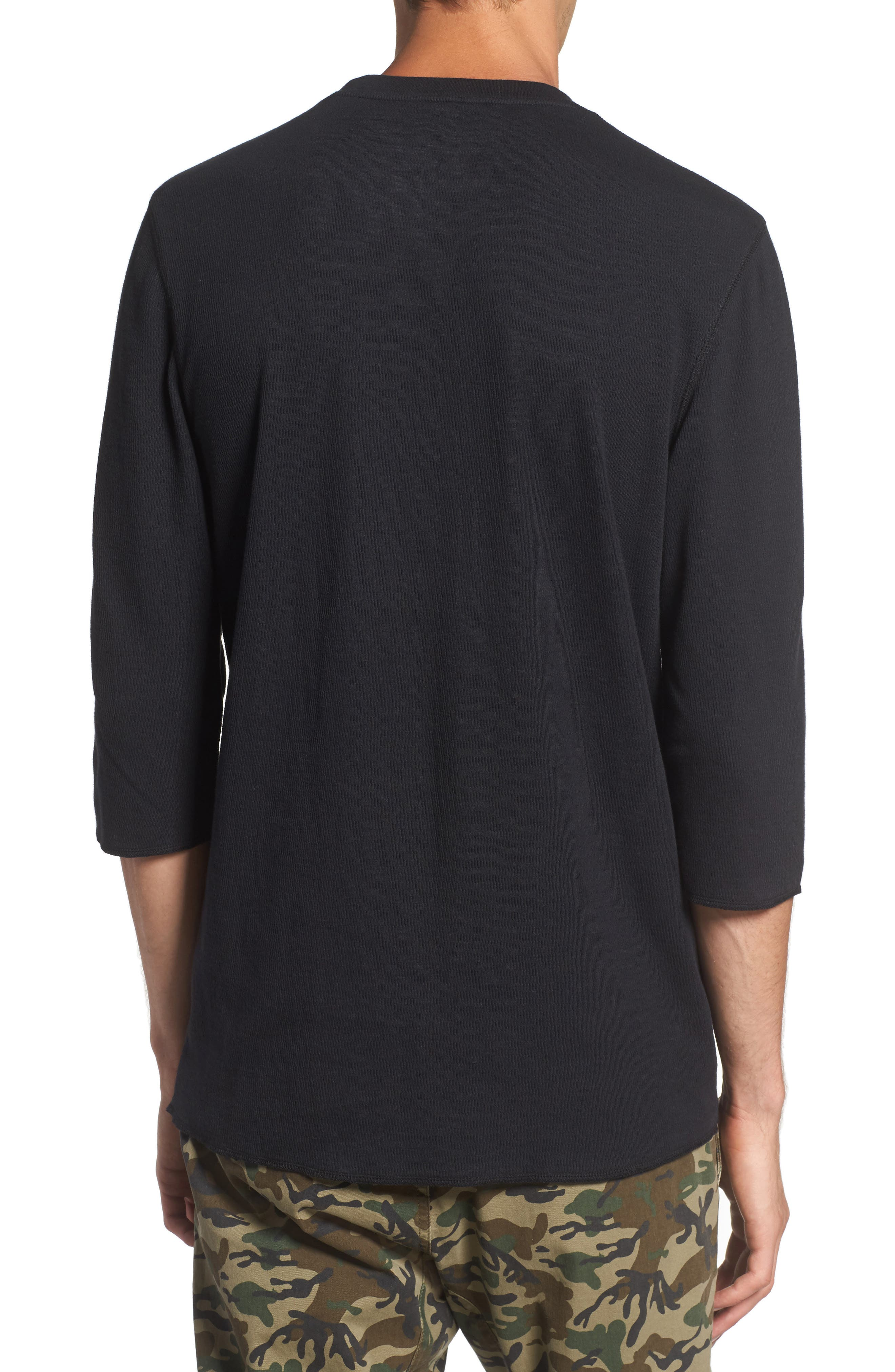 Alternate Image 2  - The Rail Three-Quarter-Sleeve Thermal T-Shirt