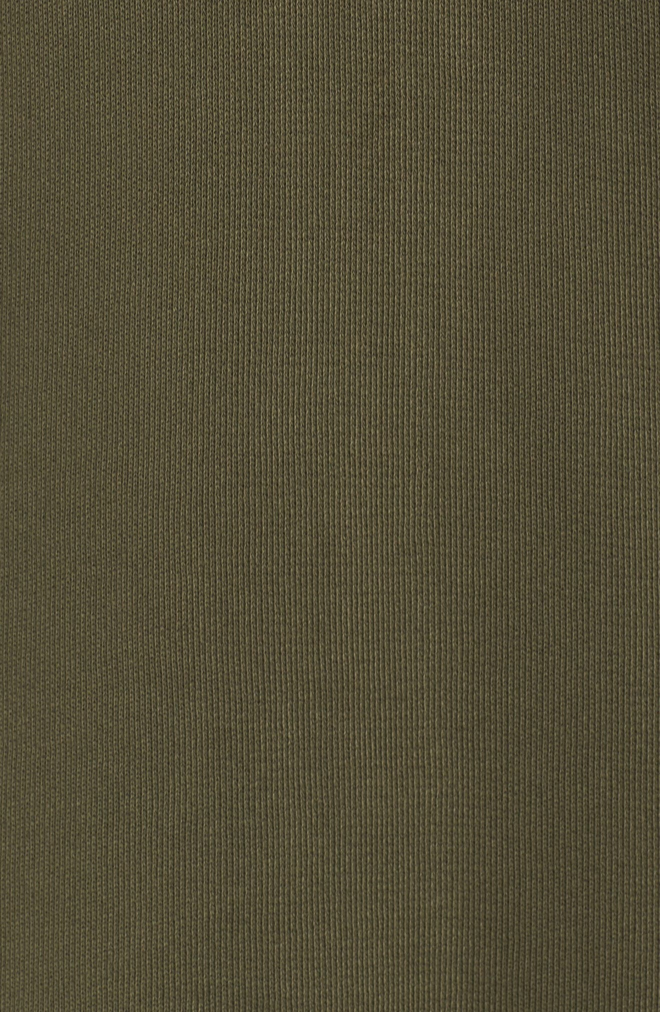 Chicago T-Shirt Dress,                             Alternate thumbnail 5, color,                             Military Green