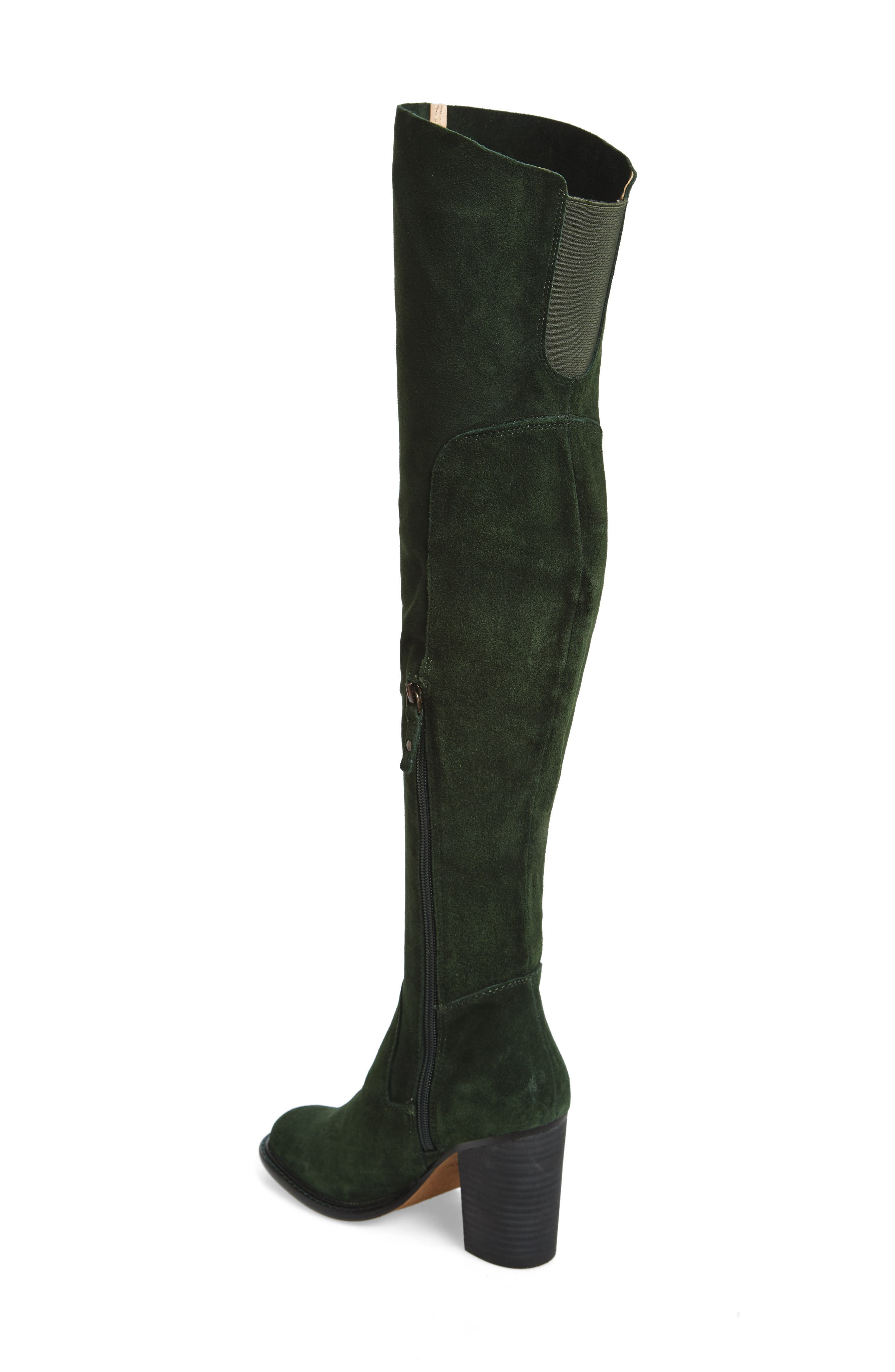 Logan Over the Knee Boot,                             Alternate thumbnail 2, color,                             Forest
