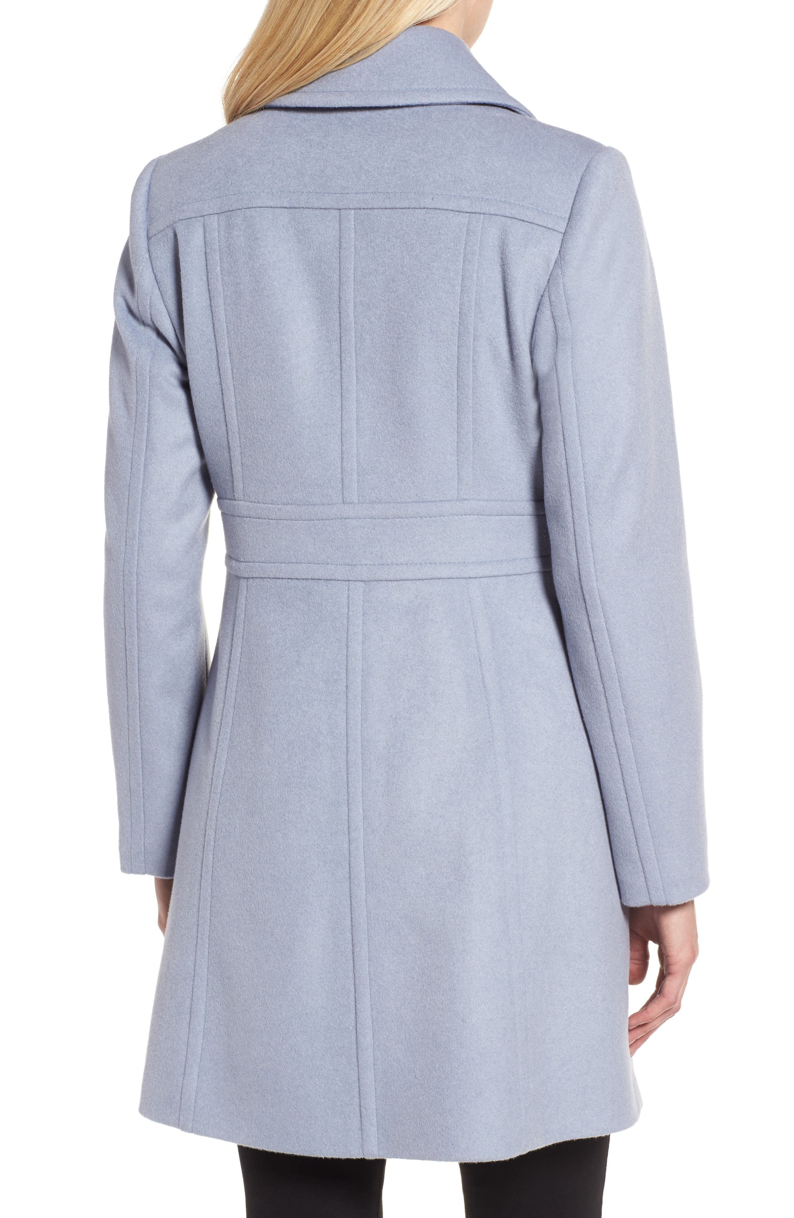 Alternate Image 2  - Kristen Blake Wool Blend Walking Coat (Regular & Petite)