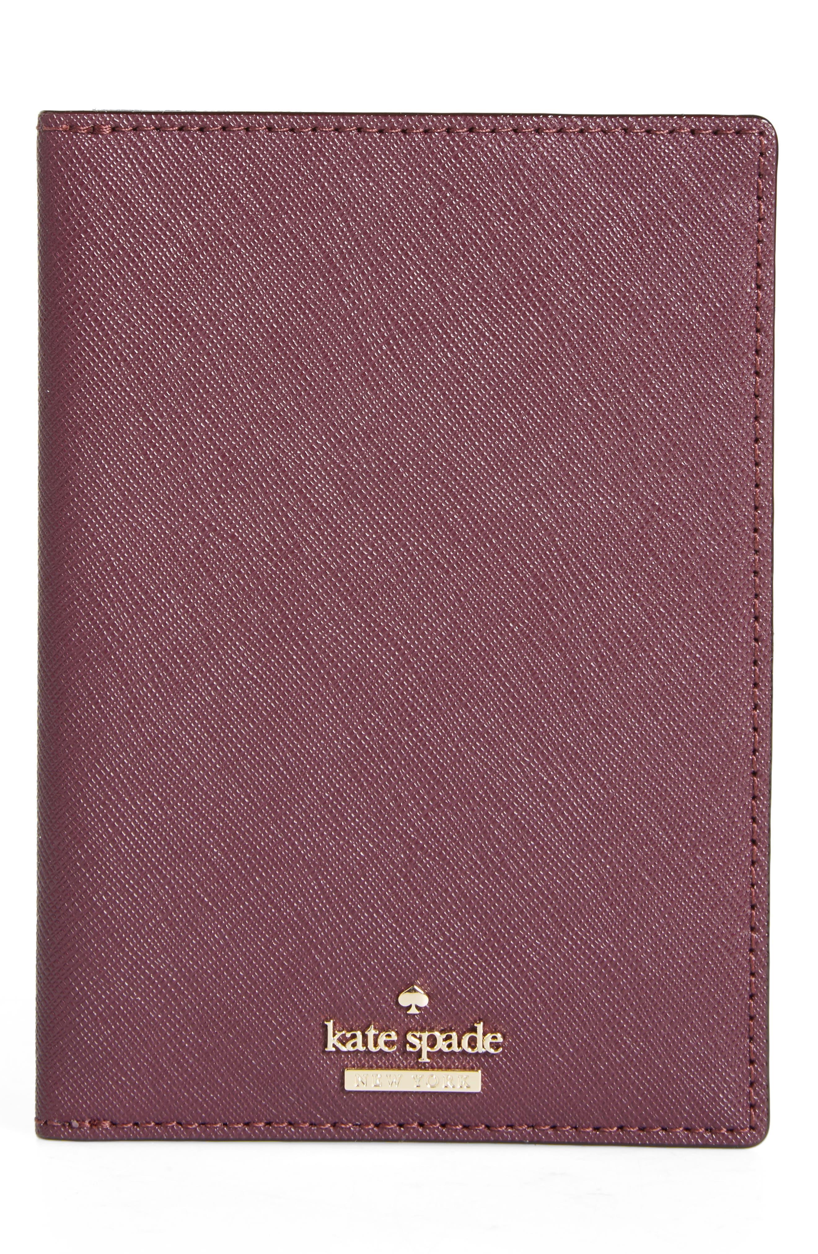 kate spade new york 'cameron street' leather passport holder