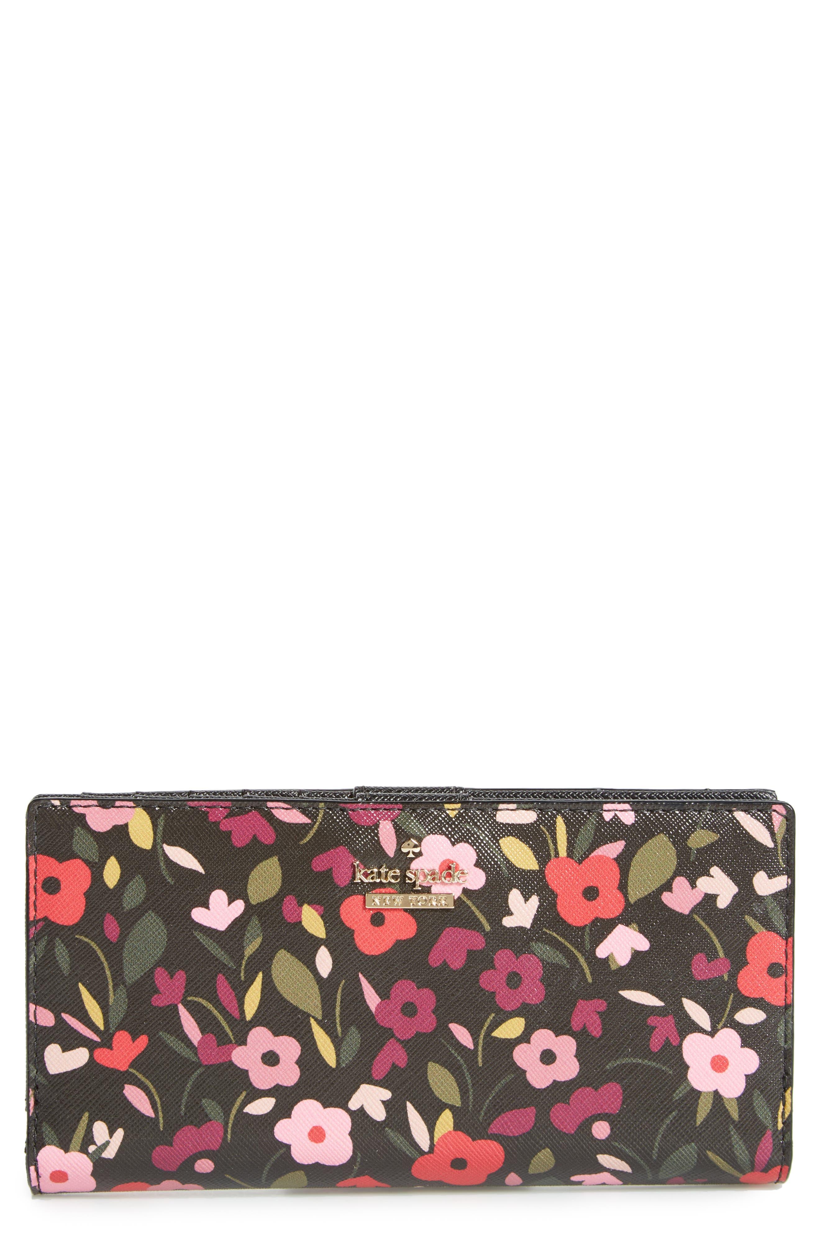 cameron street - stacy boho floral wallet,                         Main,                         color, Black Multi