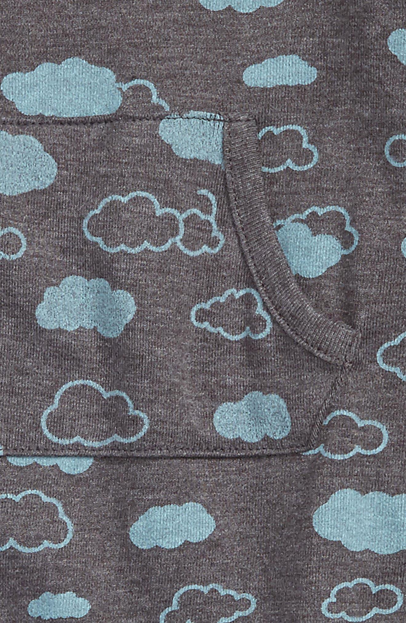 Peek Cloud Romper,                             Alternate thumbnail 2, color,                             Charcoal