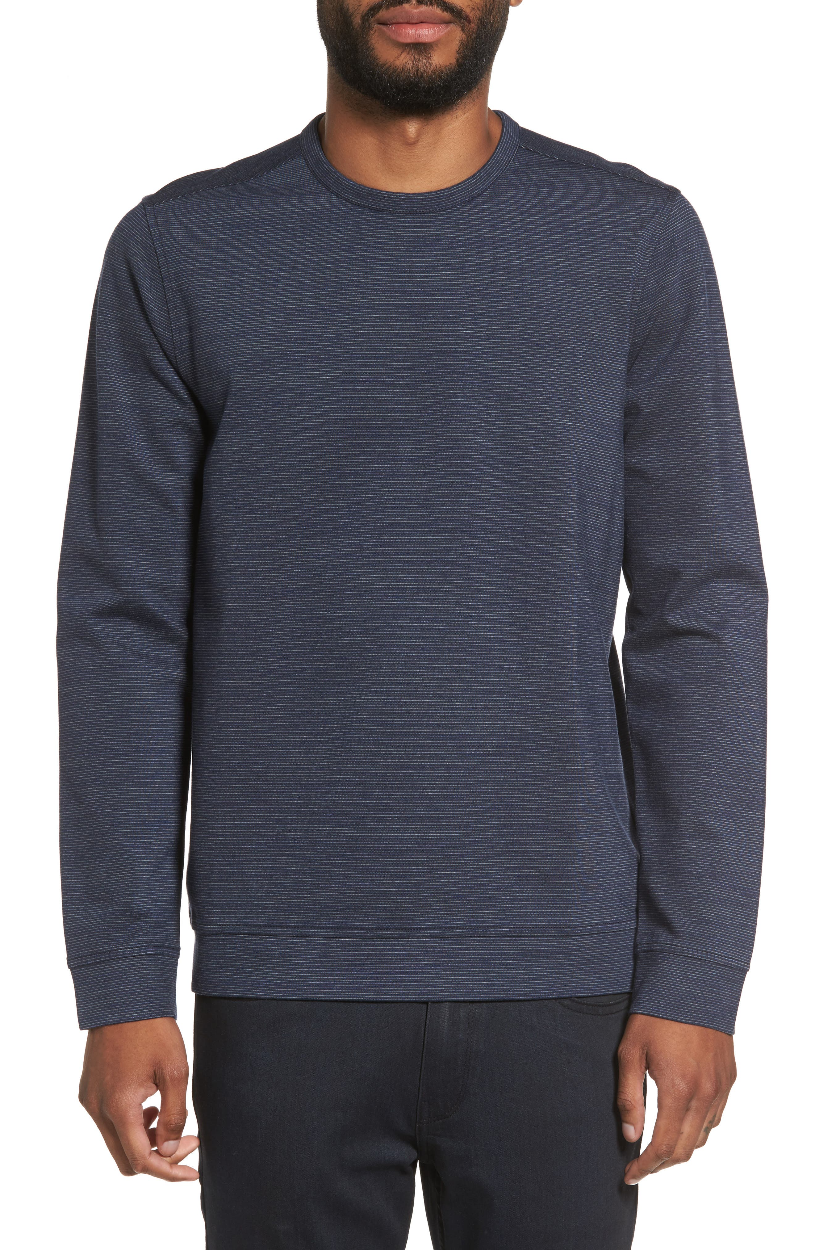 Main Image - Calibrate Space Dye Stripe Sweatshirt